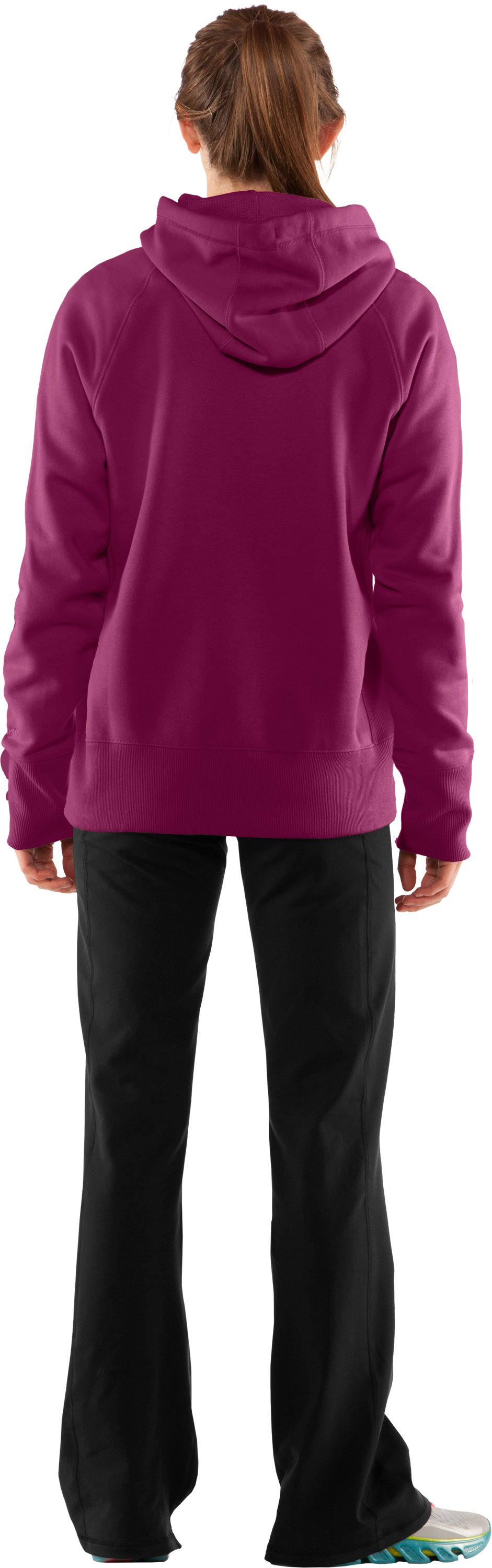 Women's Charged Cotton® Storm Hoodie, Rosewood, Back