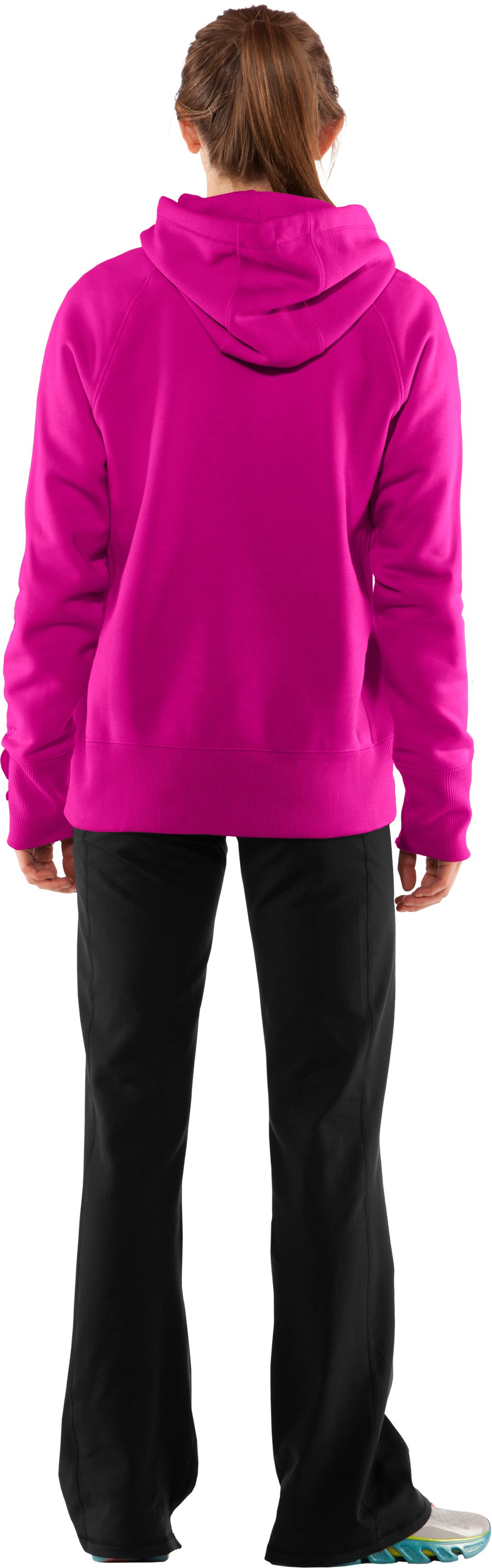 Women's Charged Cotton® Storm Hoodie, Tropic Pink, Back