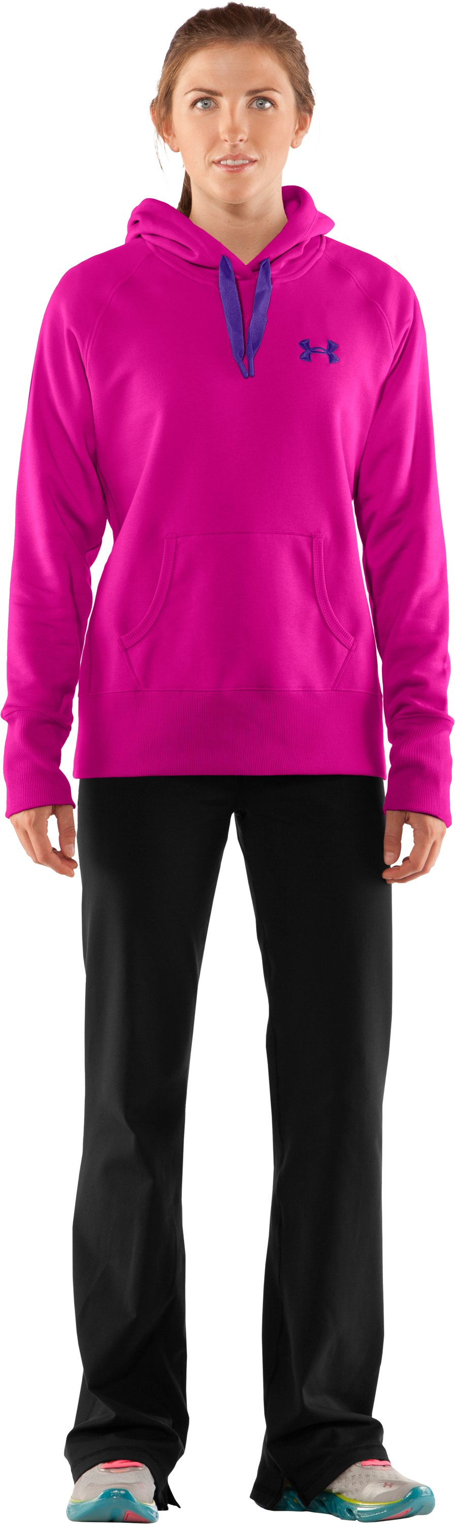 Women's Charged Cotton® Storm Hoodie, Tropic Pink, Front