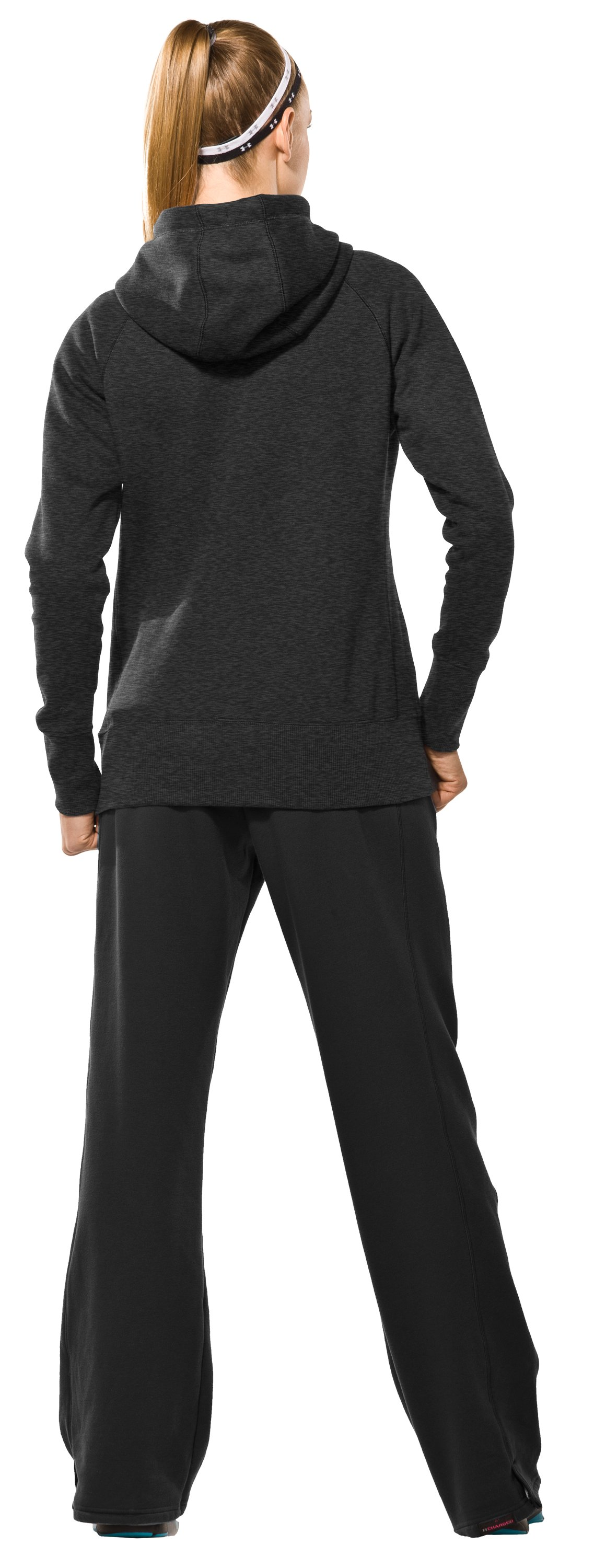 Women's Charged Cotton® Storm Full Zip Hoodie, Asphalt Heather, Back