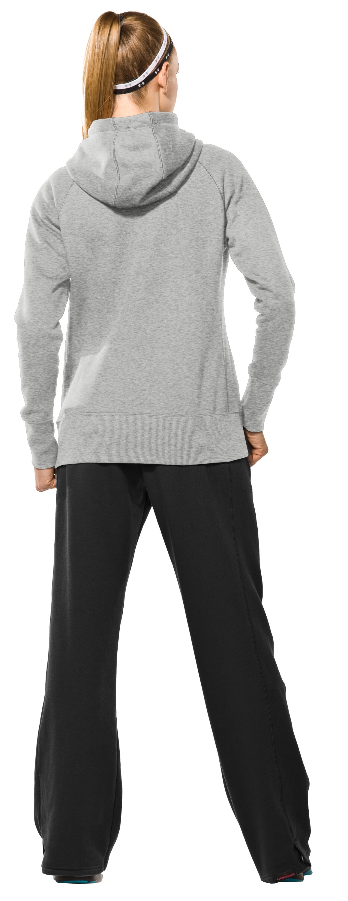 Women's Charged Cotton® Storm Full Zip Hoodie, Silver Heather, Back