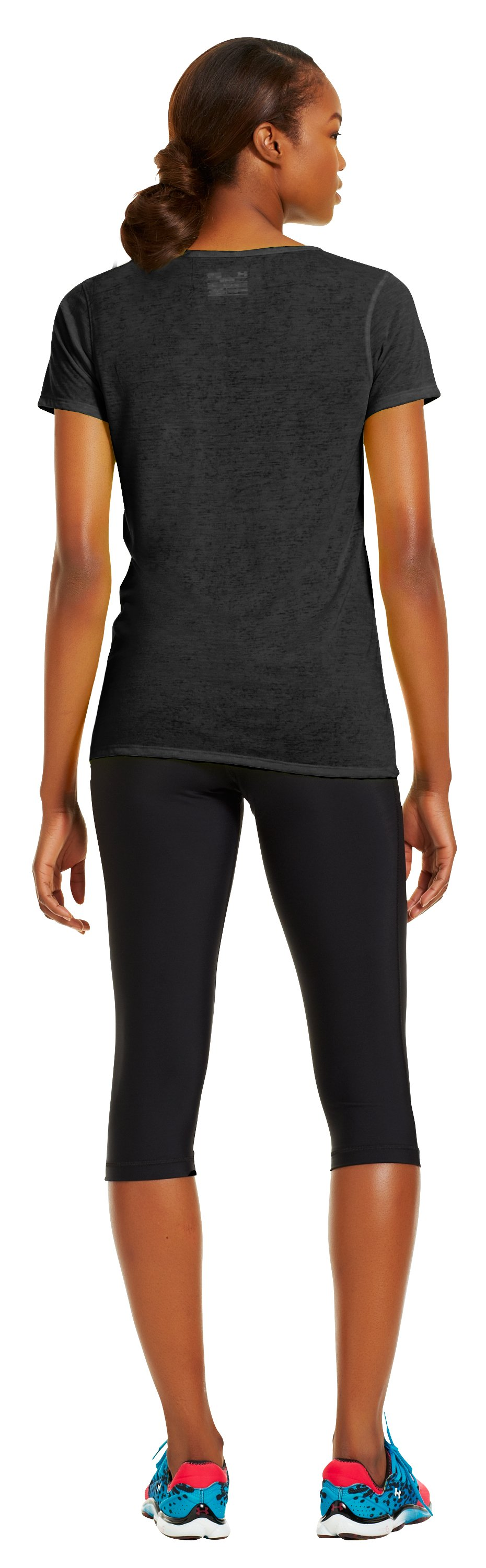 Women's Achieve Burnout T-Shirt, Black , Back
