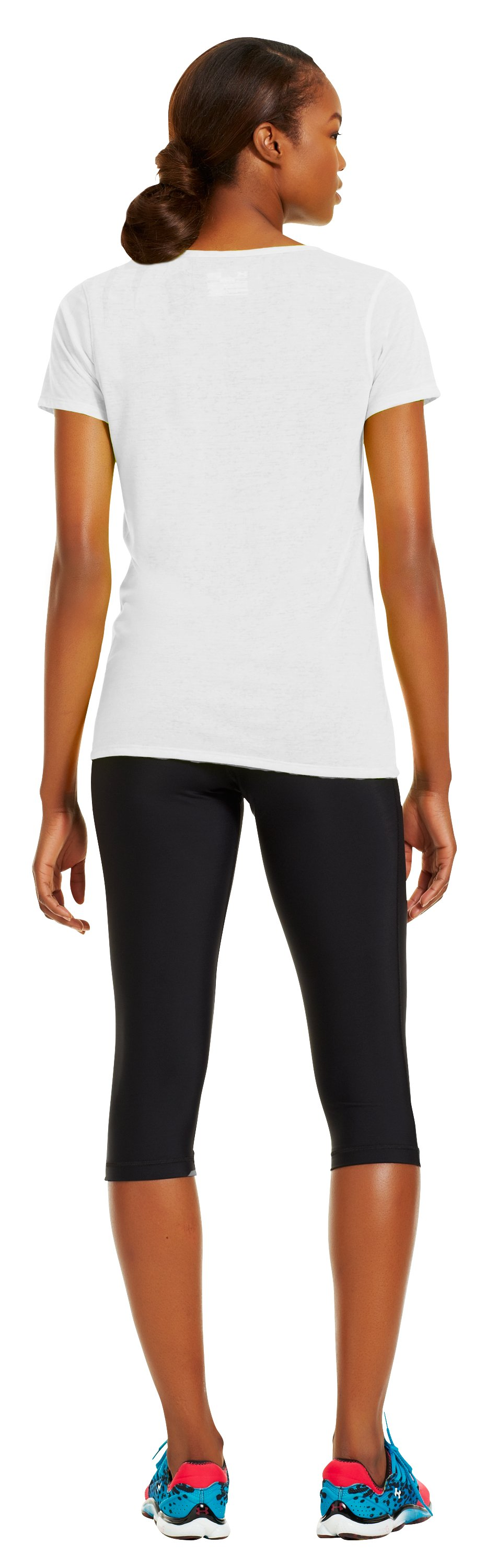 Women's Achieve Burnout T-Shirt, White, Back