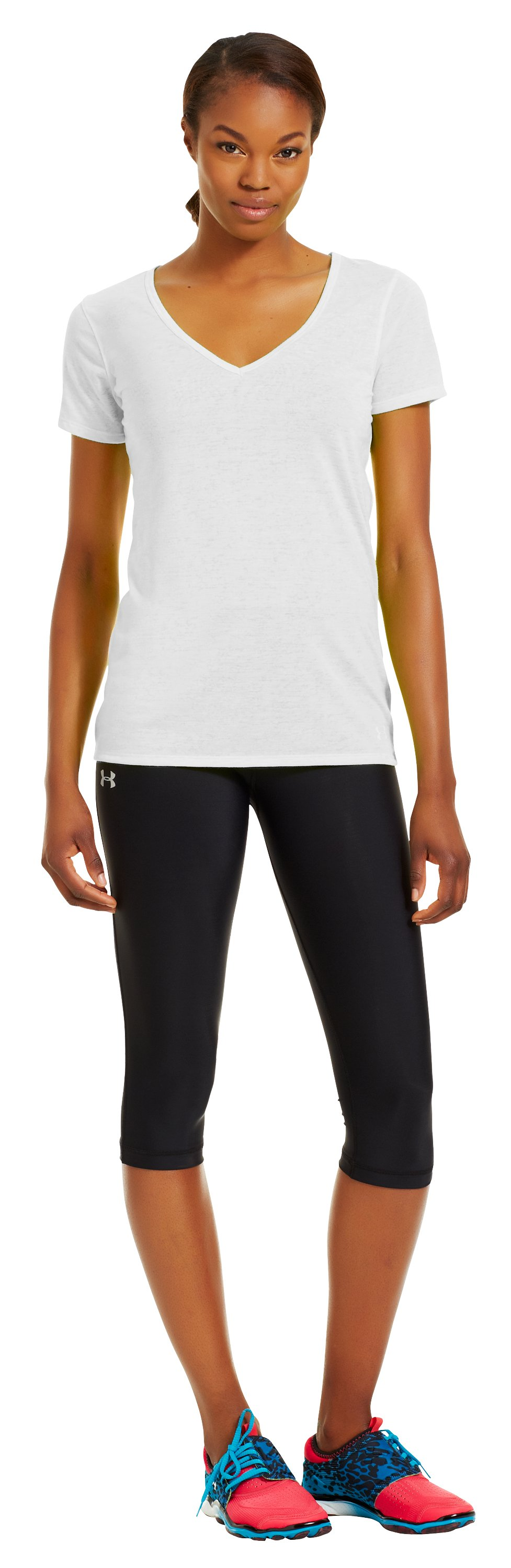 Women's Achieve Burnout T-Shirt, White, zoomed image