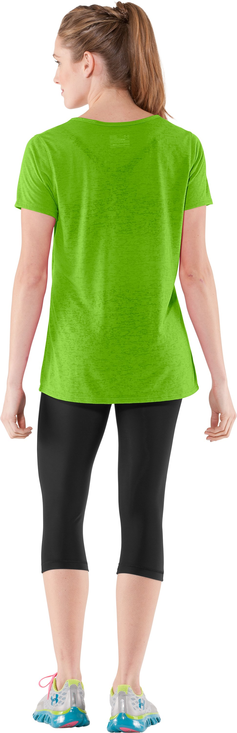 Women's Achieve Burnout T-Shirt, Poison, Back