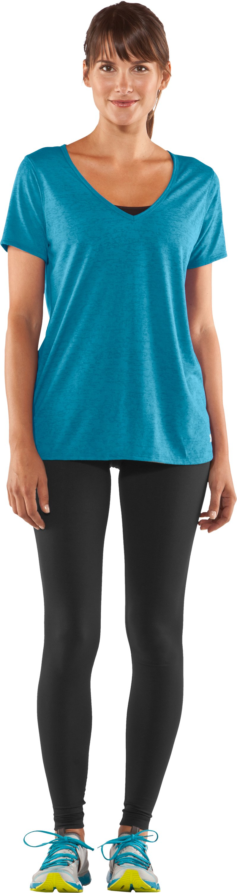 Women's Achieve Burnout T-Shirt, Break, Front