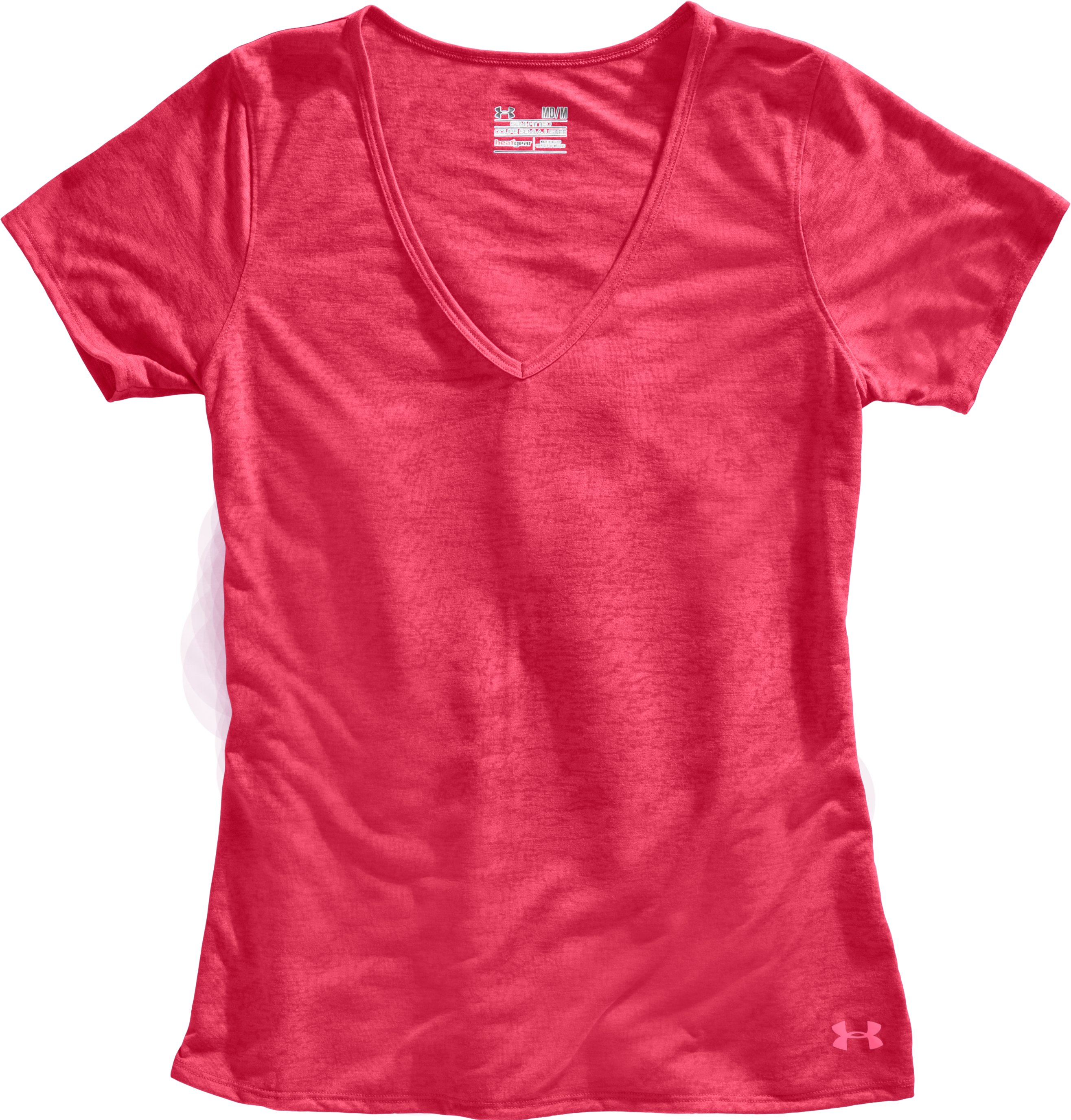Women's Achieve Burnout T-Shirt, Hibiscus, Laydown