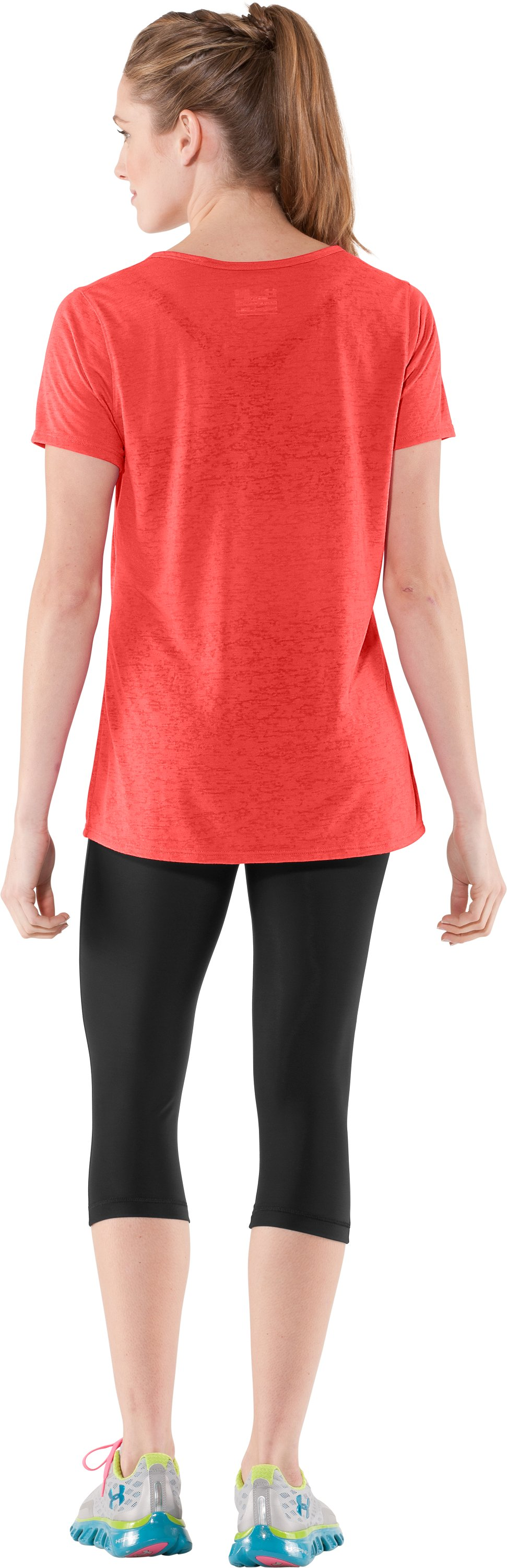 Women's Achieve Burnout T-Shirt, Fire, Back