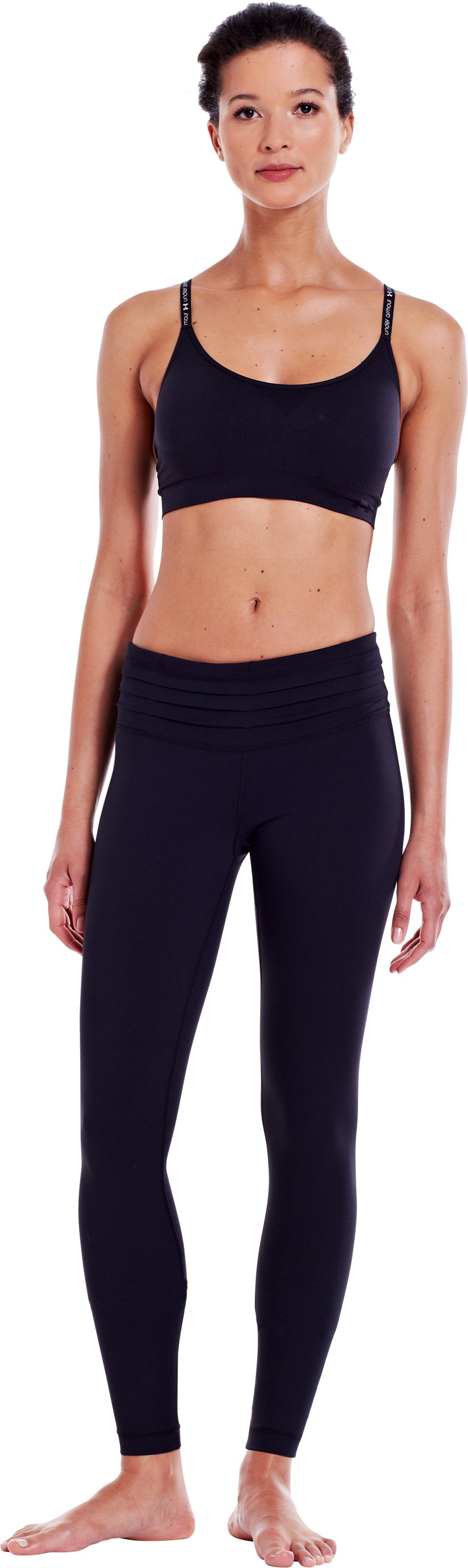 "Women's 30"" UA StudioLux® Quattro Leggings - Short, Black , Front"