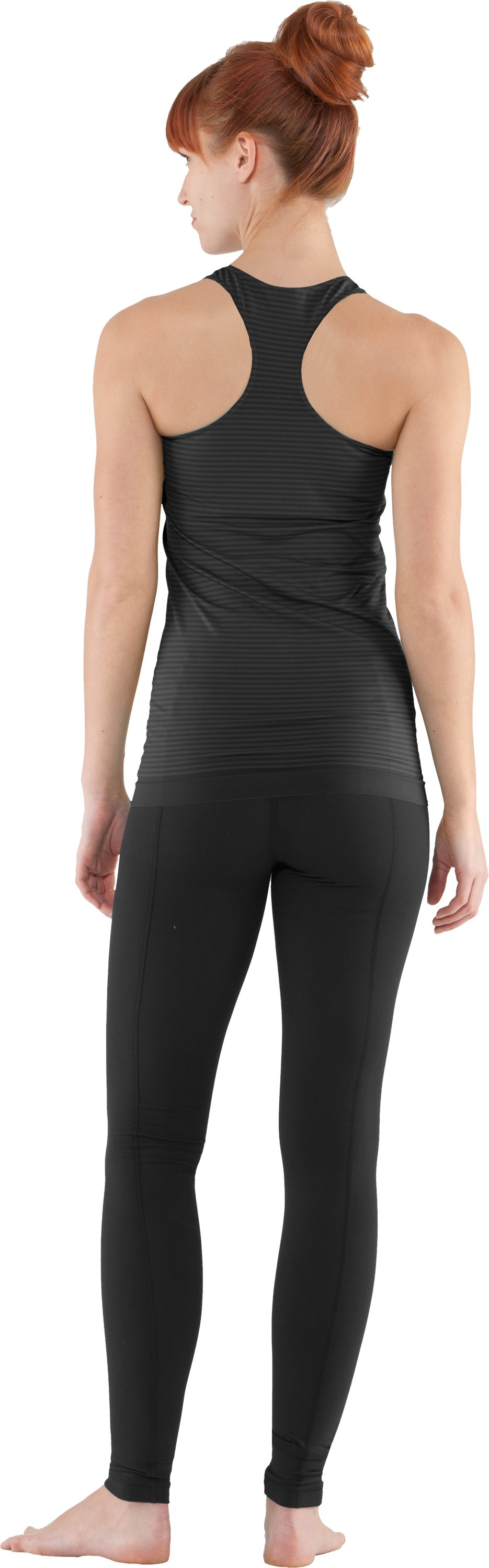 Women's UA Seamless Tank, Black , Back