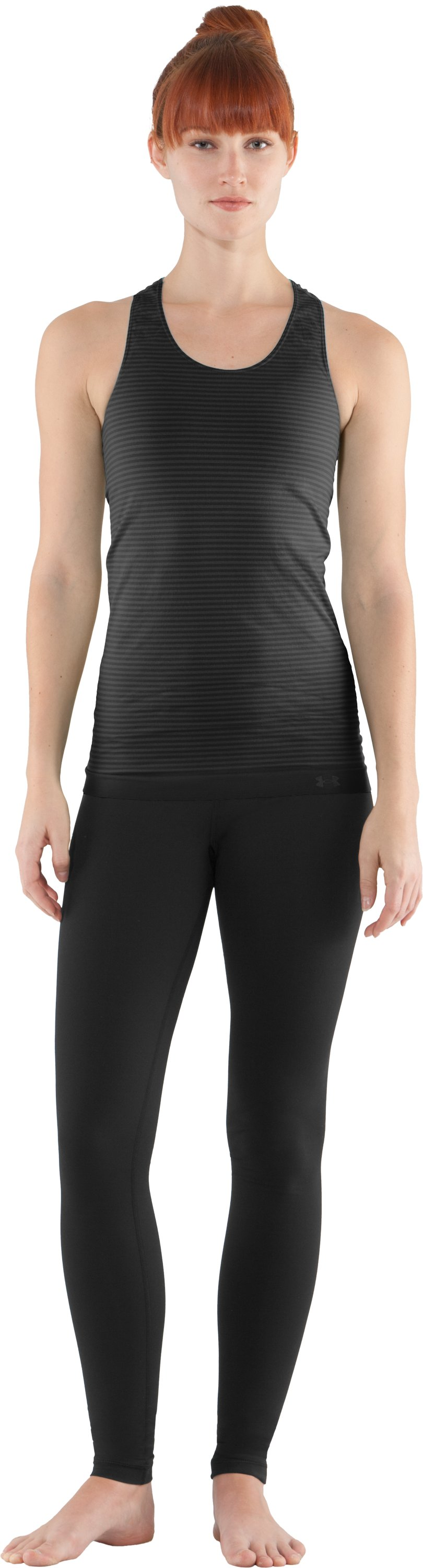 Women's UA Seamless Tank, Black , Front