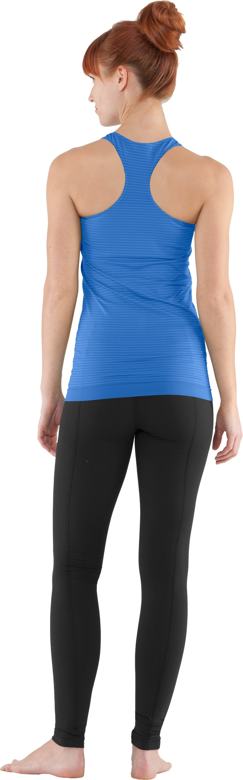 Women's UA Seamless Tank, Water, Back