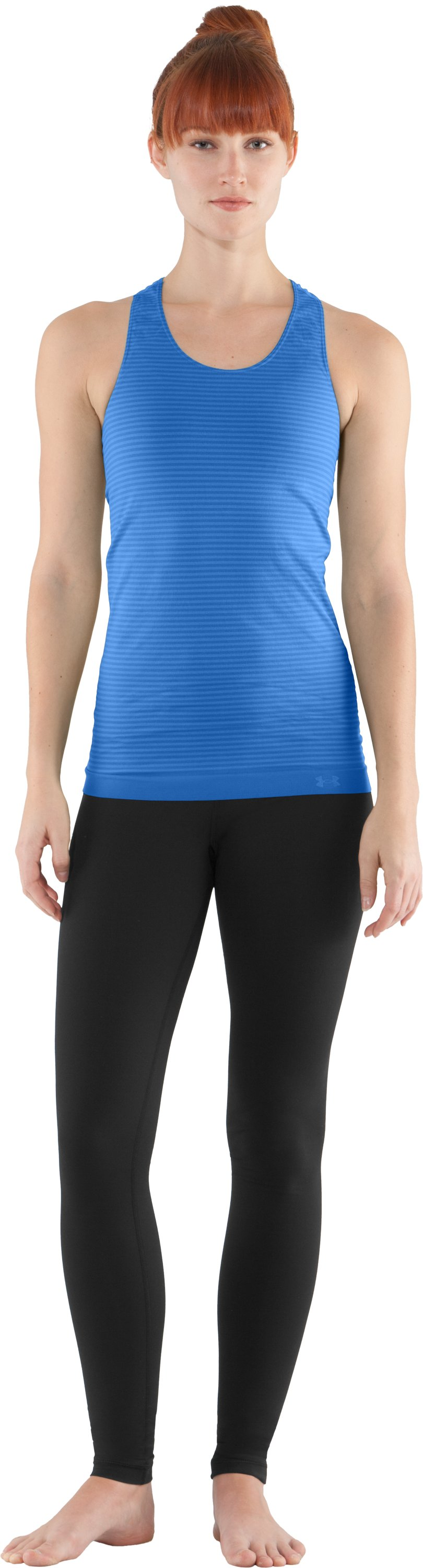 Women's UA Seamless Tank, Water, Front