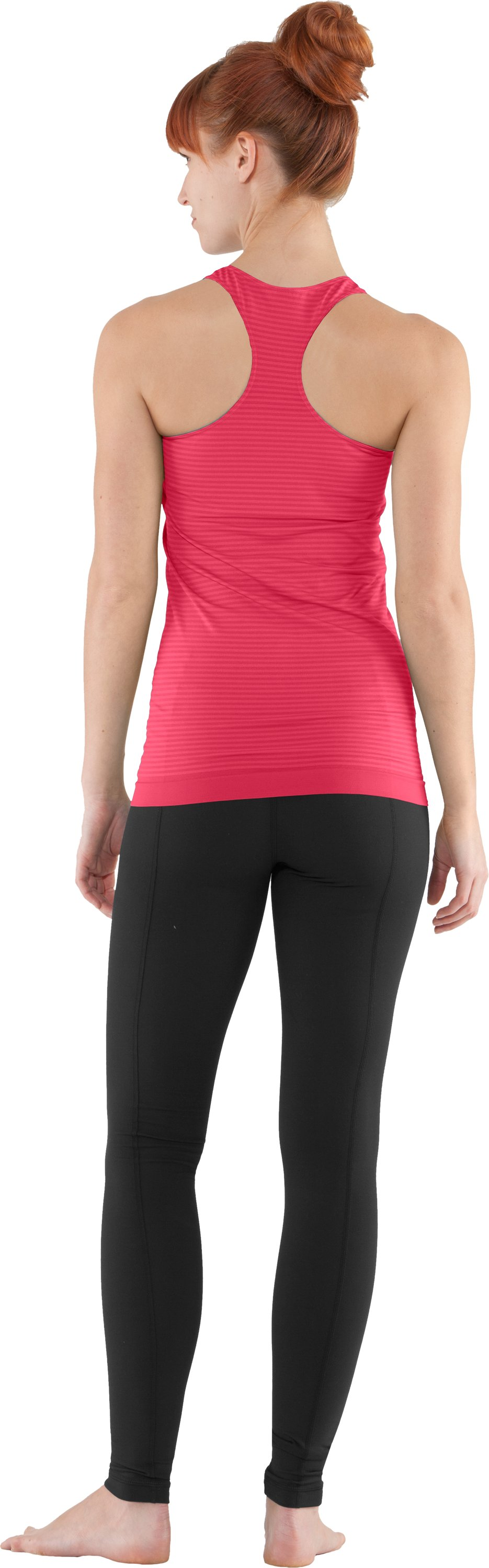Women's UA Seamless Tank, Hibiscus, Back