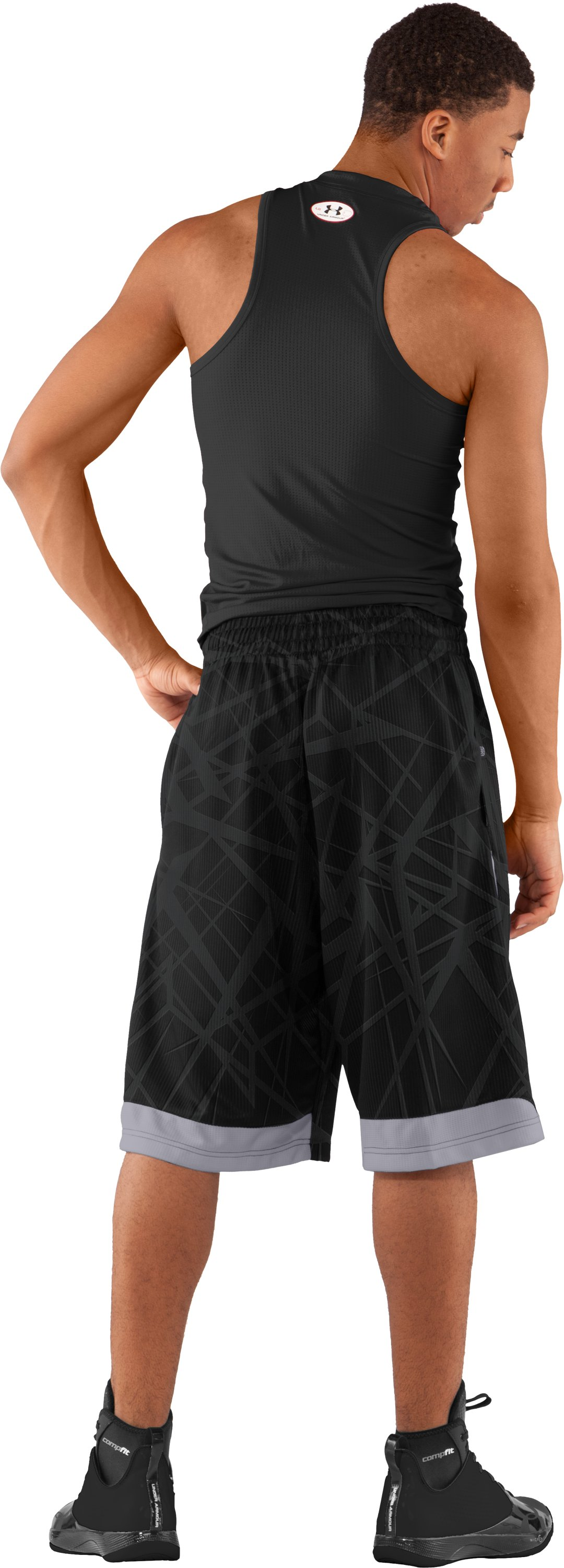 "Men's Printed UA Valkyrie 12"" Basketball Shorts, Black , Back"