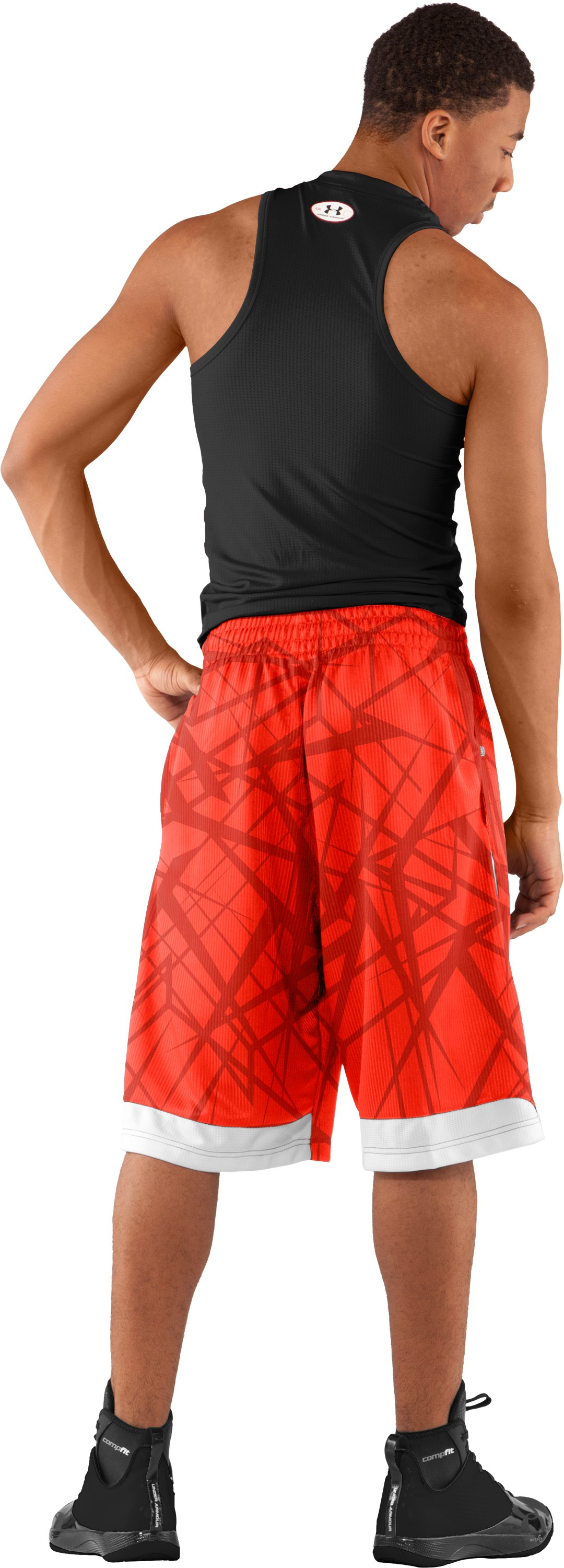 "Men's Printed UA Valkyrie 12"" Basketball Shorts, Fuego, Back"