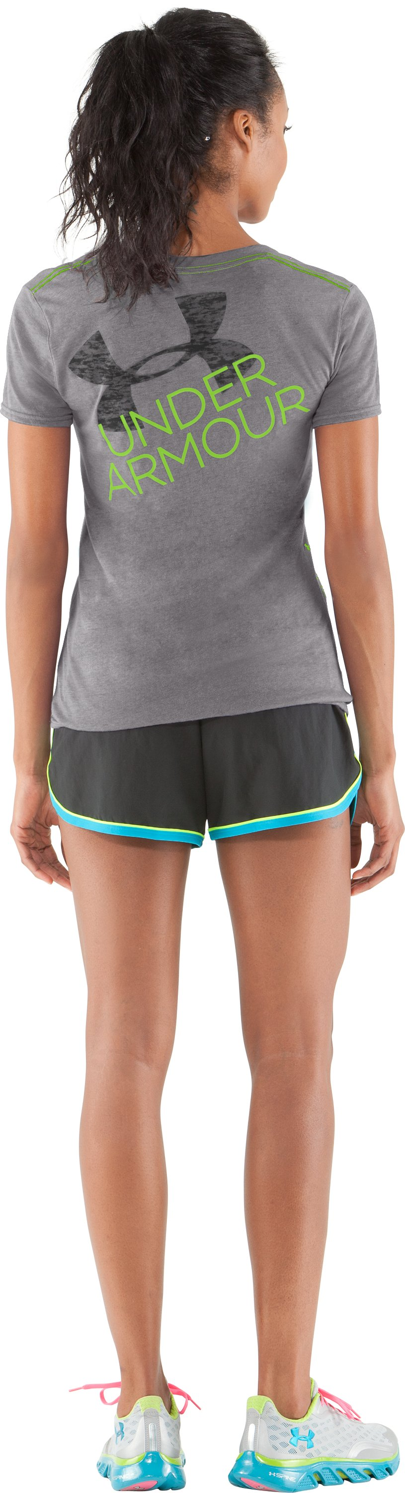 Women's UA Script Undeniable V-Neck, Charcoal, zoomed image