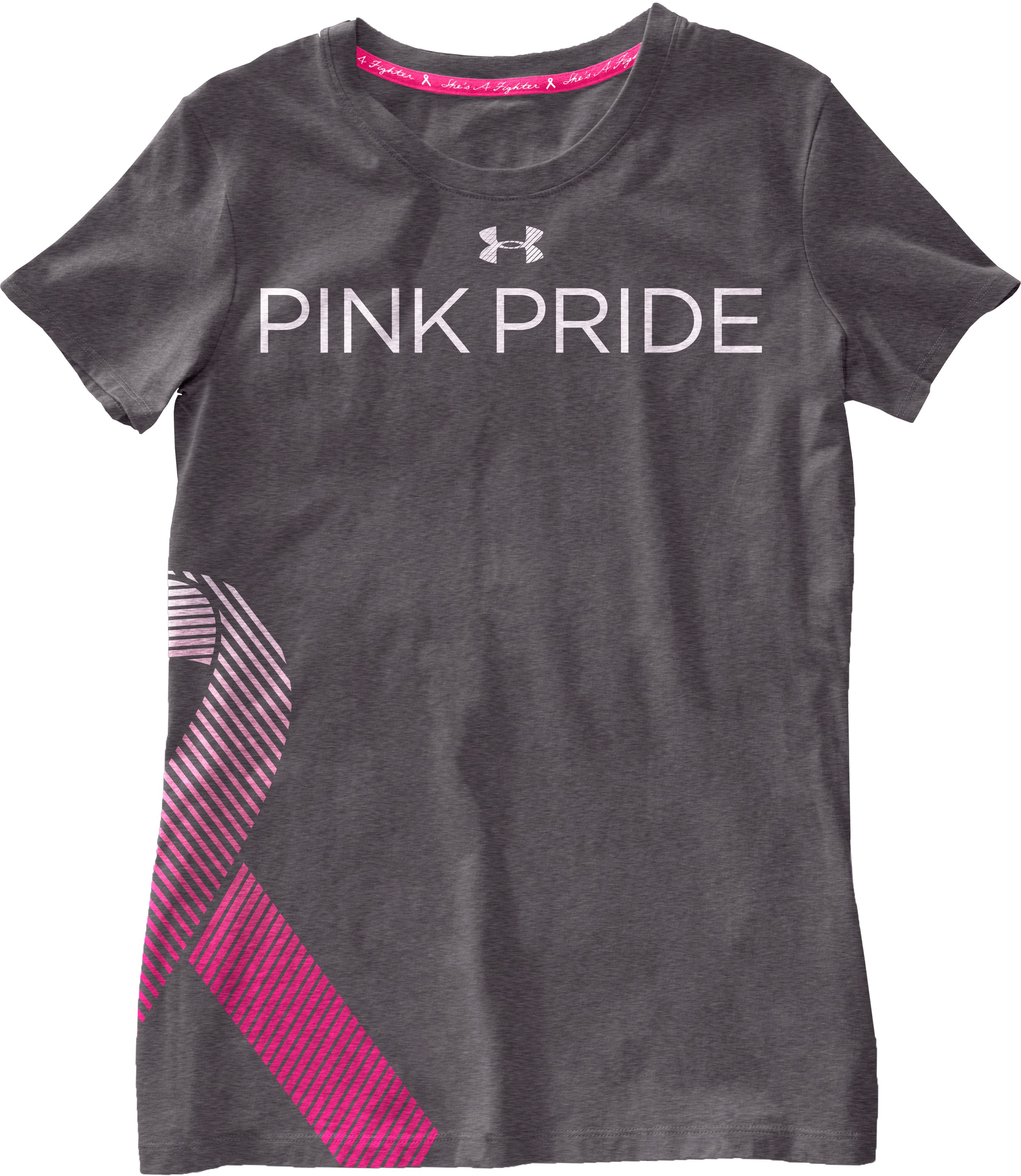 Women's UA PIP® Ribbon V-Neck, Carbon Heather, Laydown