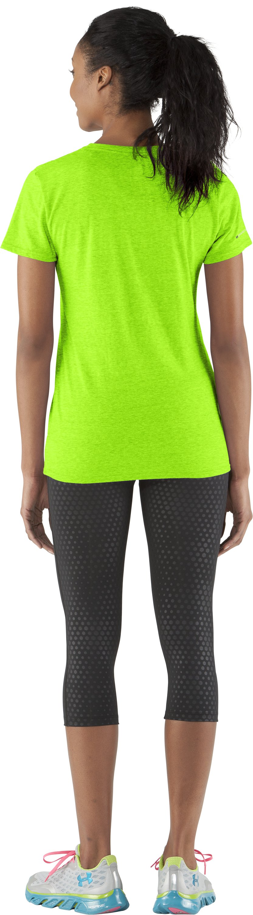 Women's Charged Cotton® Undeniable T-Shirt, HYPER GREEN, Back