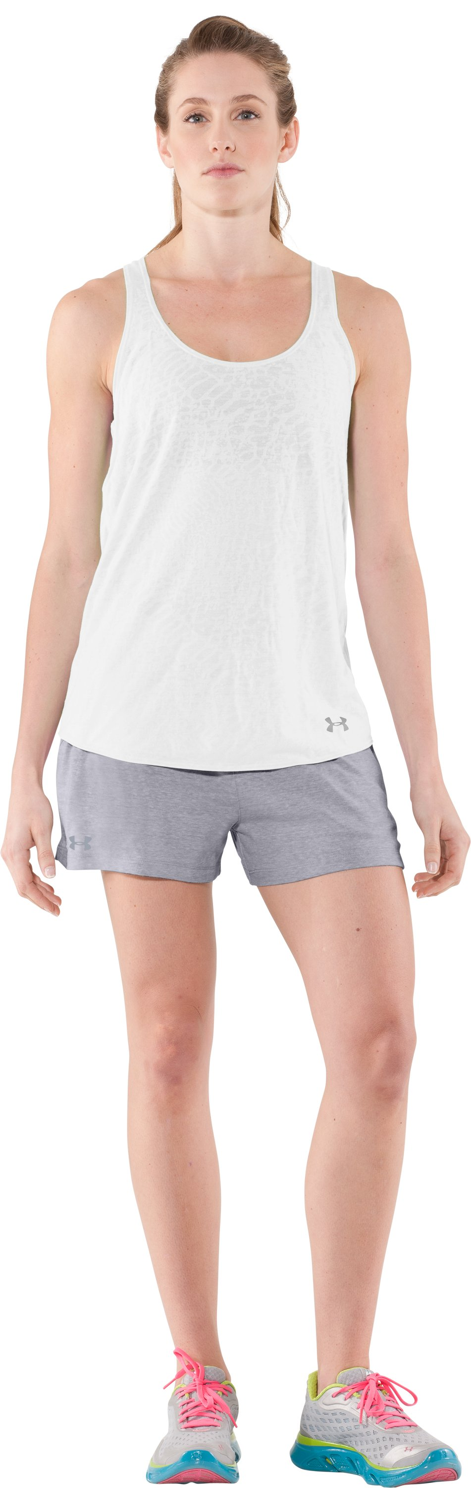 Women's Charged Cotton® Undeniable Shorts, Aluminum, Front