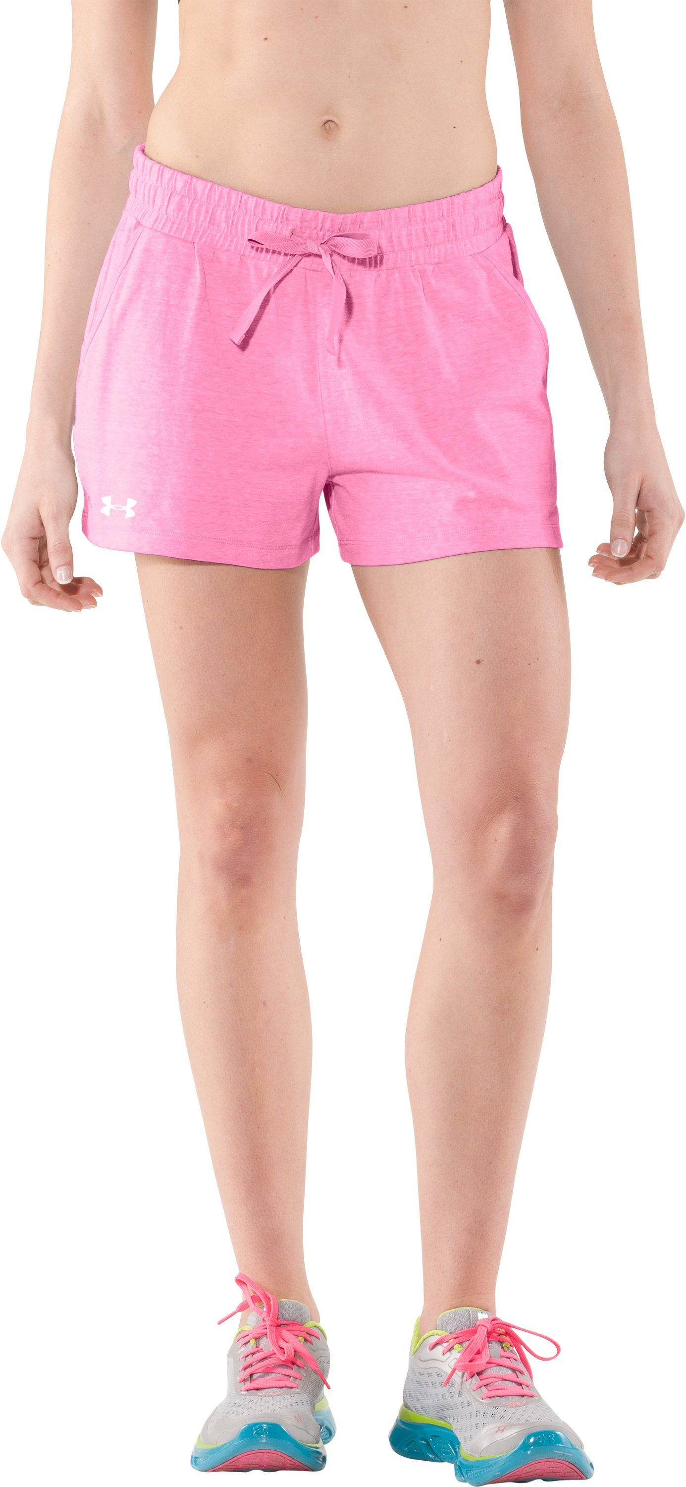 Women's Charged Cotton® Undeniable Shorts, Fluo Pink, zoomed image
