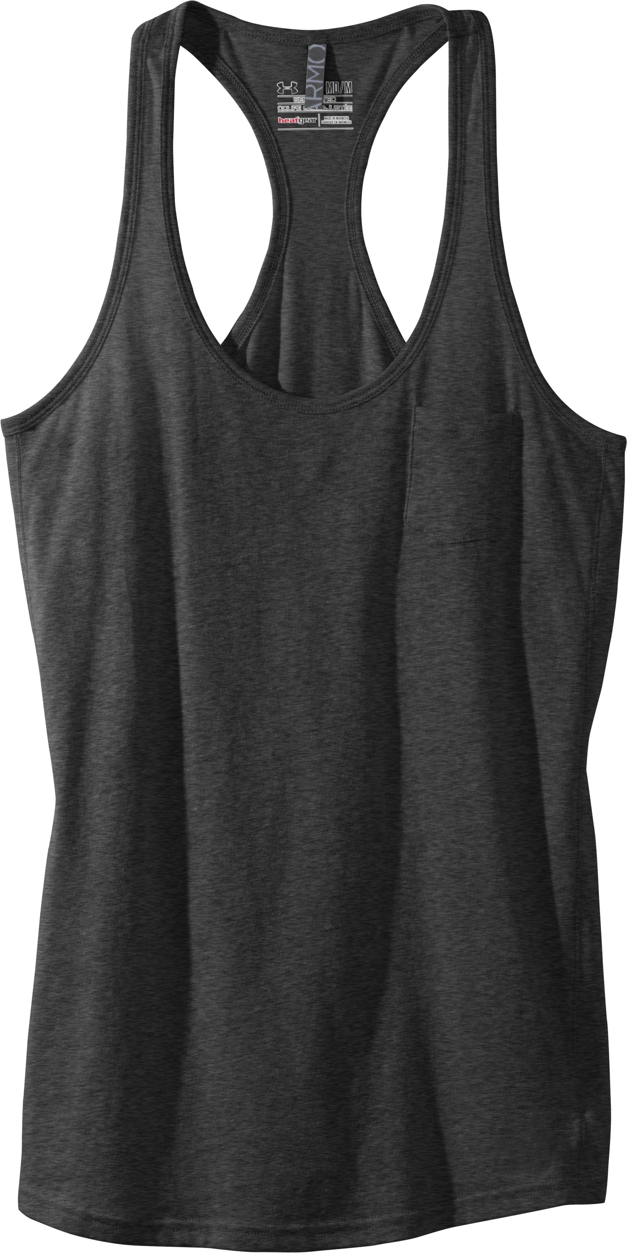 Women's Charged Cotton® Undeniable Tank, Black , Laydown