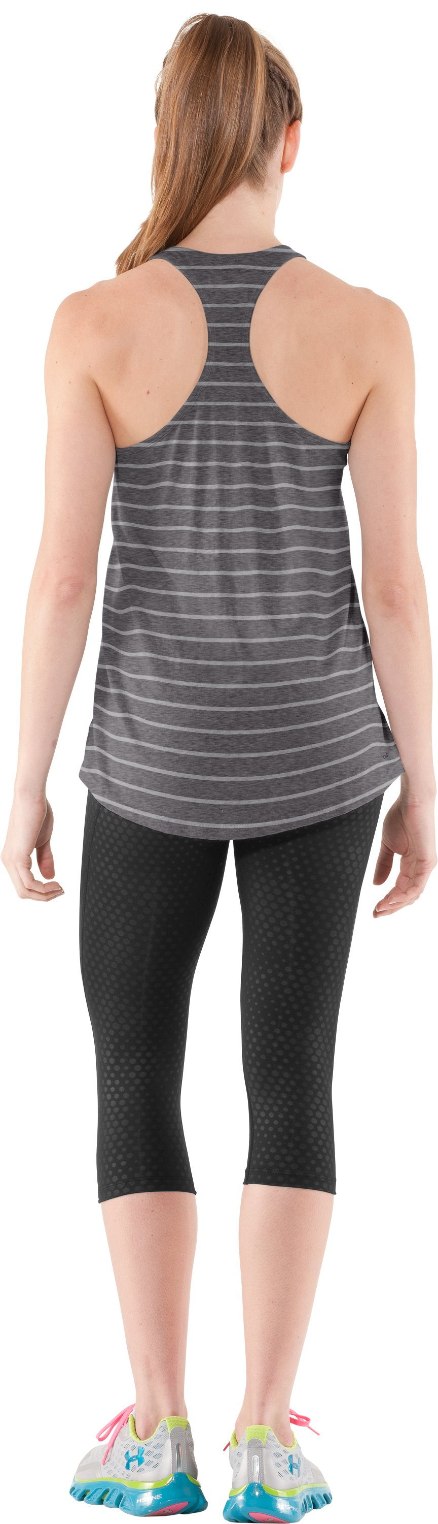 Women's Charged Cotton® Undeniable Tank, Charcoal, Back