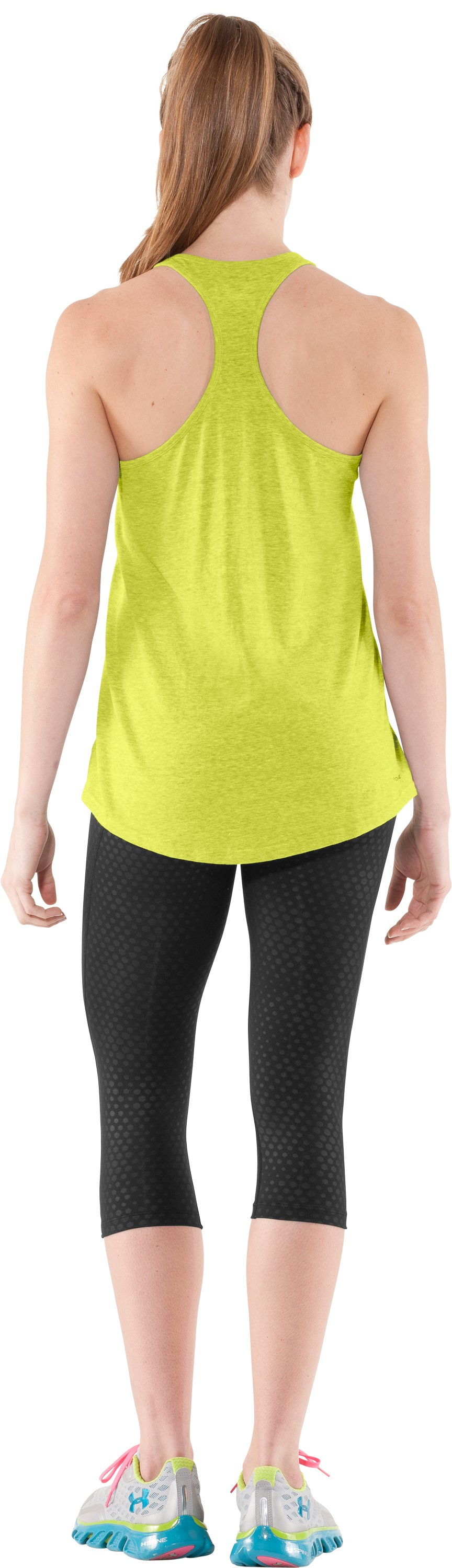 Women's Charged Cotton® Undeniable Tank, High-Vis Yellow, Back