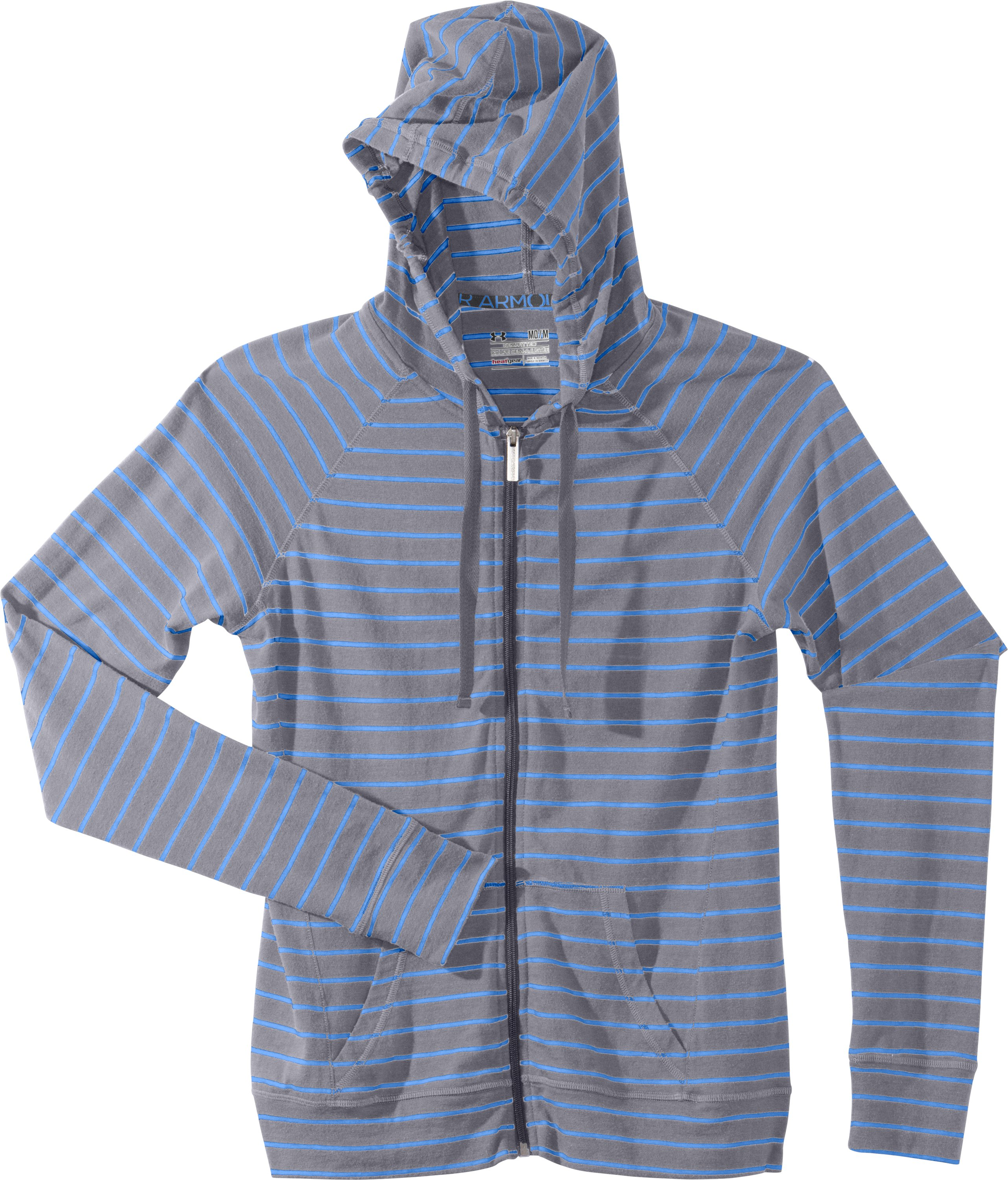 Women's Charged Cotton® Full Zip Hoodie, Aluminum, Laydown