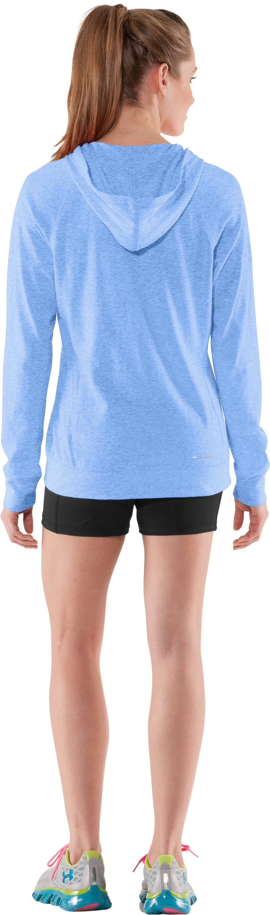 Women's Charged Cotton® Full Zip Hoodie, Water, Back