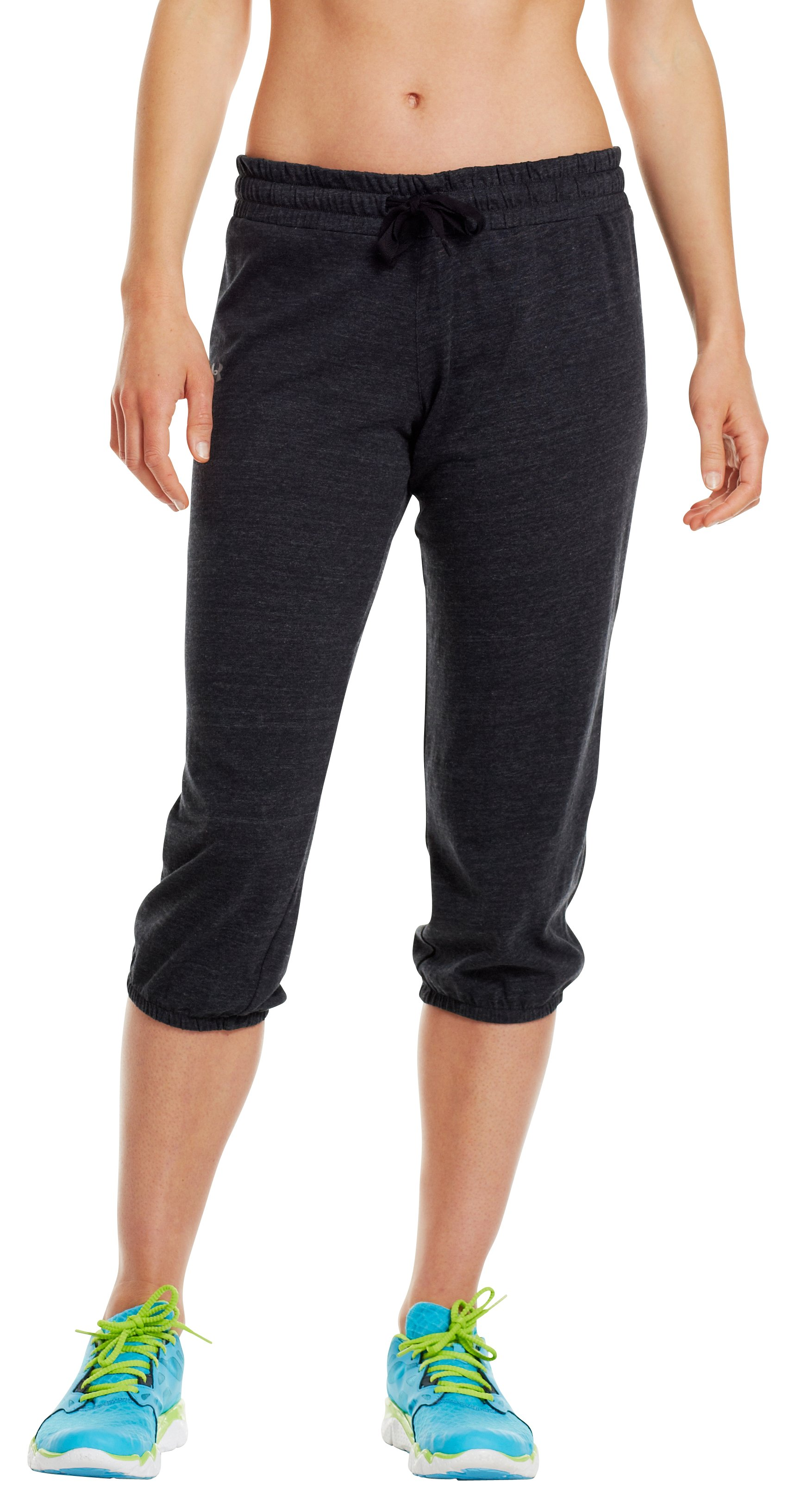 Women's Charged Cotton® Undeniable Capri, Black , zoomed image