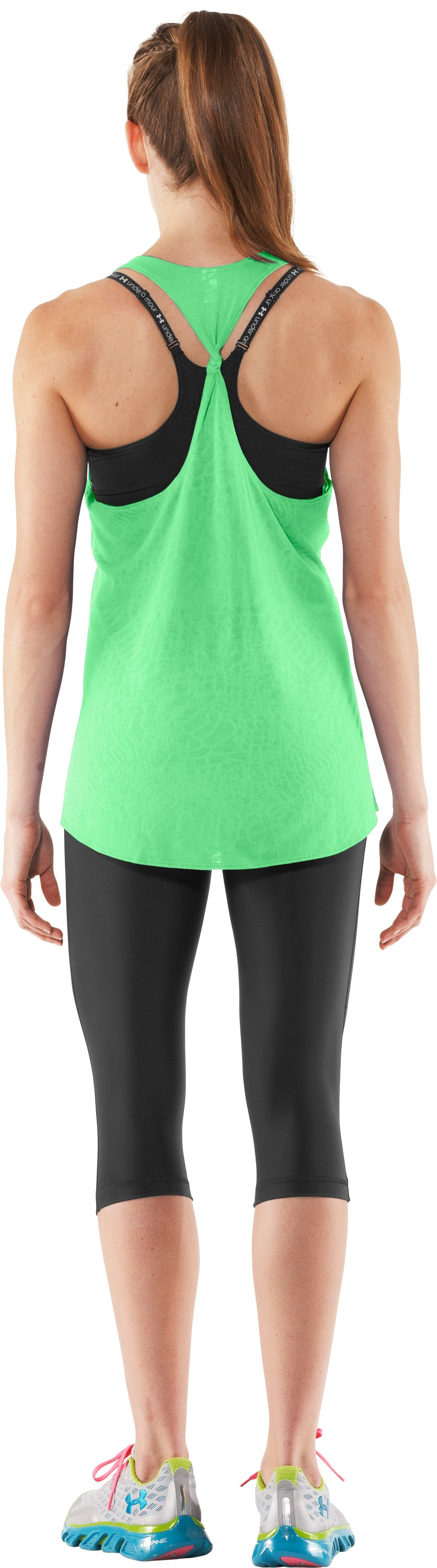 Women's UA Achieve Tank, Poison, Back