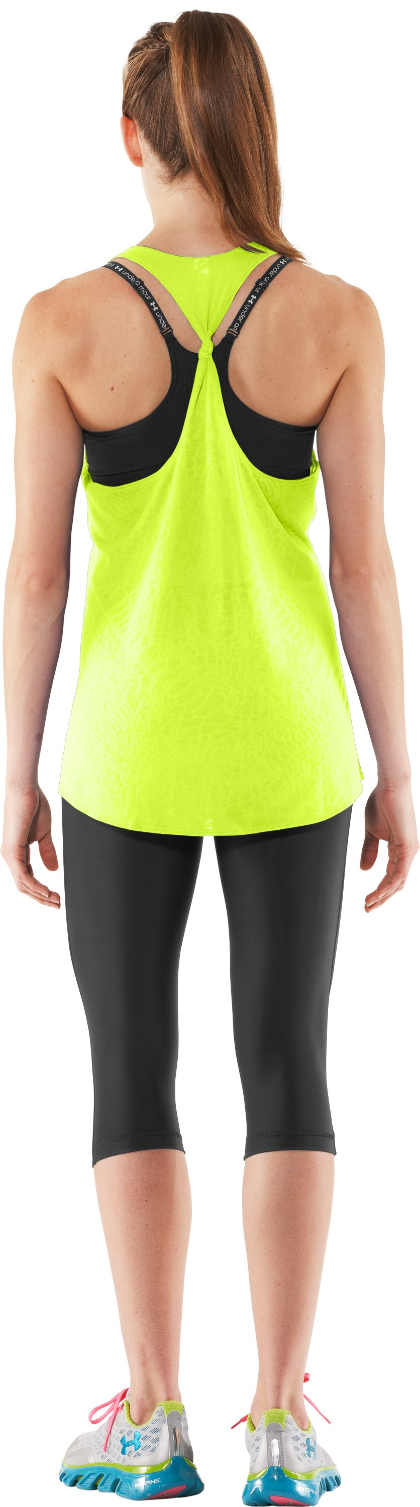 Women's UA Achieve Tank, High-Vis Yellow, Back