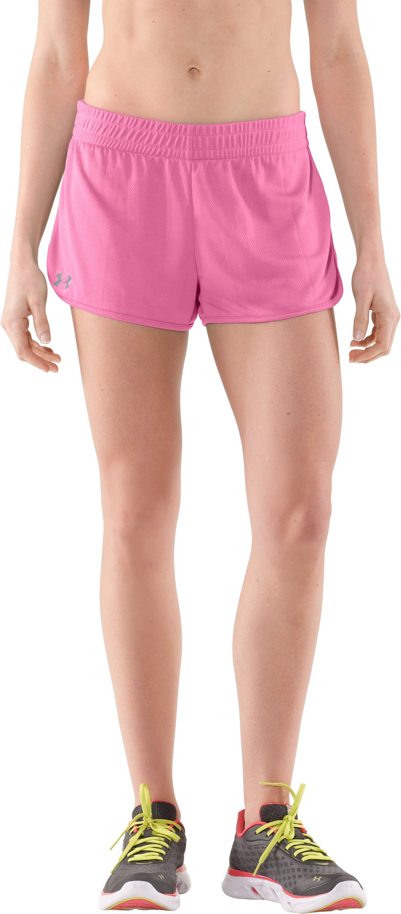 Women's UA Tidal Shorty, Fluo Pink, zoomed image