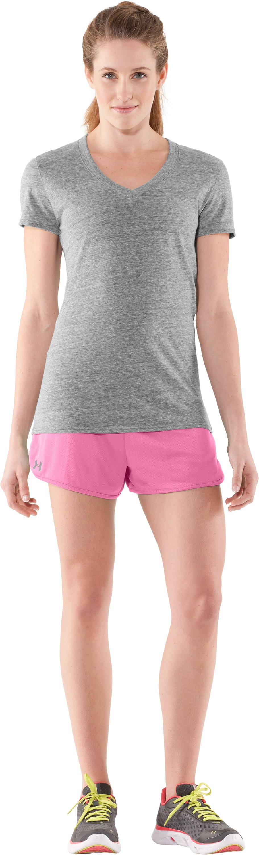 Women's UA Tidal Shorty, Fluo Pink, Front