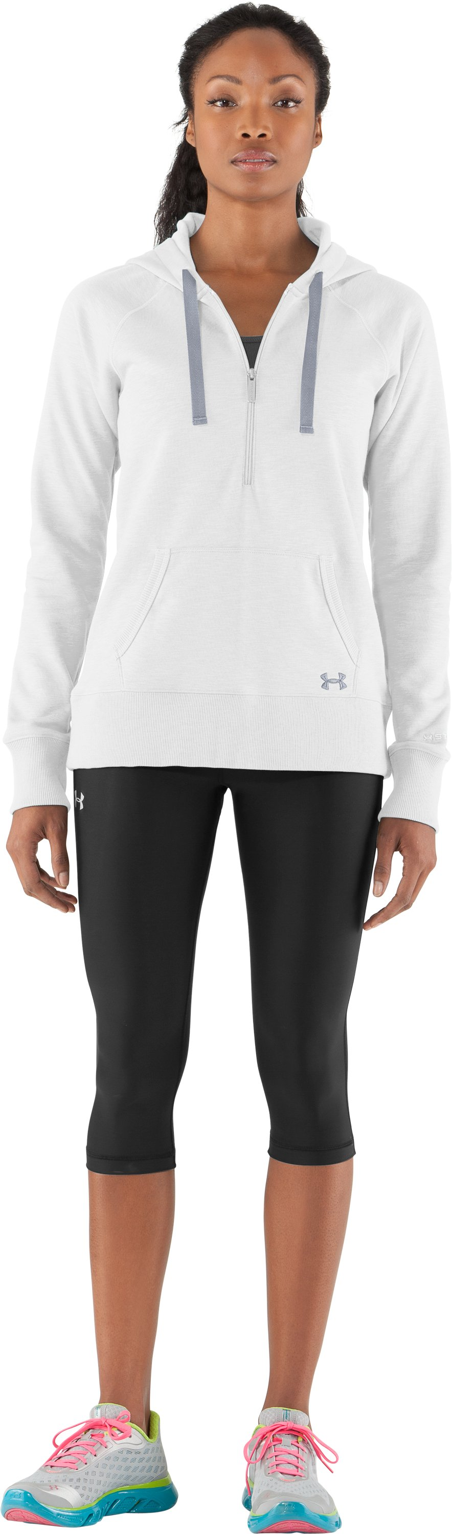 Women's Charged Cotton® Storm Slub Hoodie, White, zoomed image