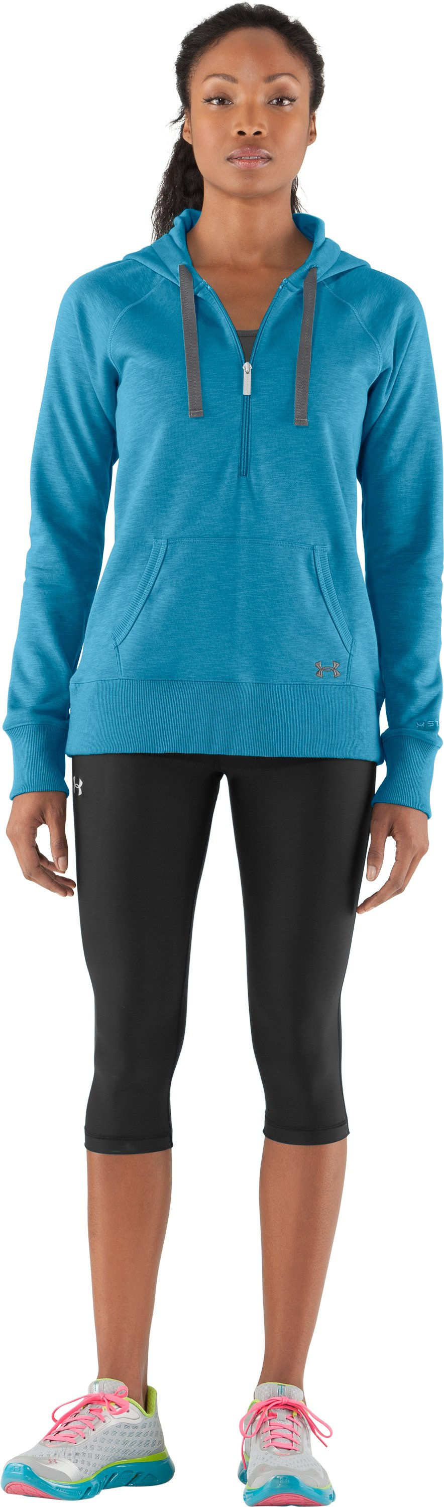 Women's Charged Cotton® Storm Slub Hoodie, Deceit, zoomed image