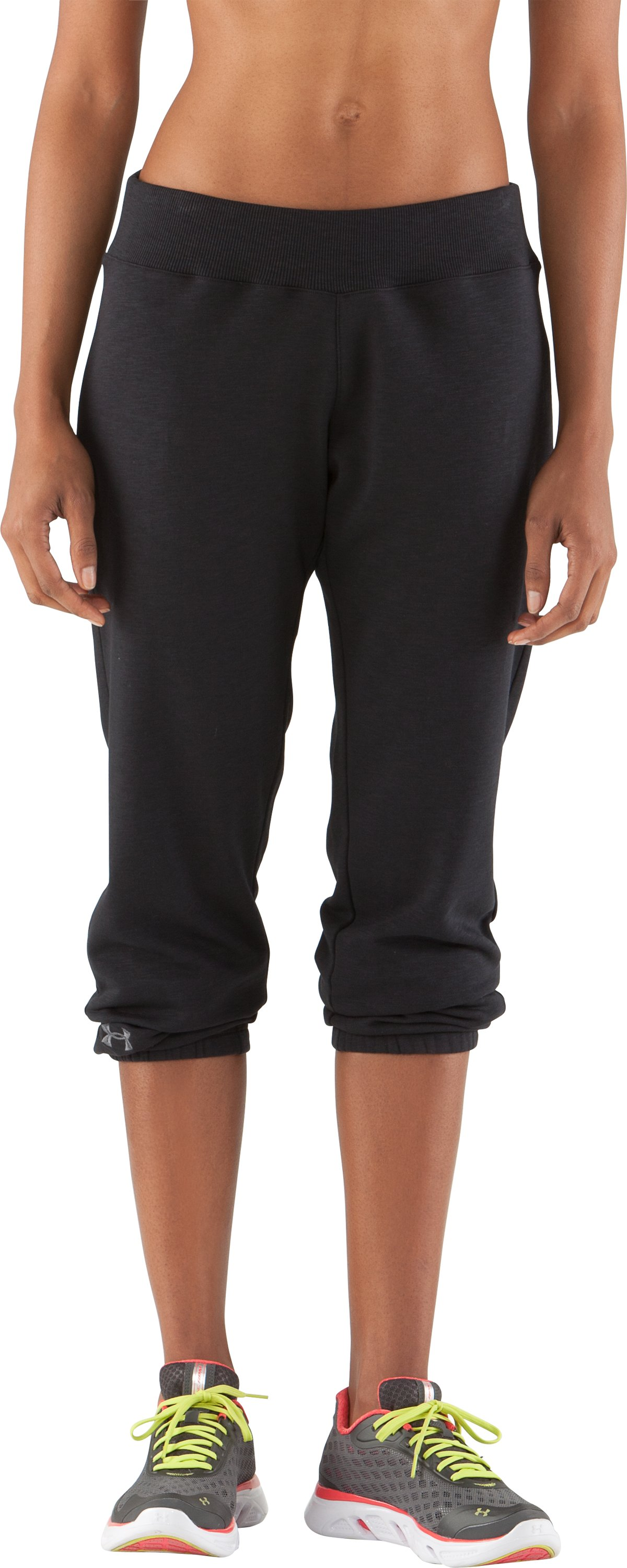 Women's Charged Cotton® Storm Slub Pants, Black , zoomed image