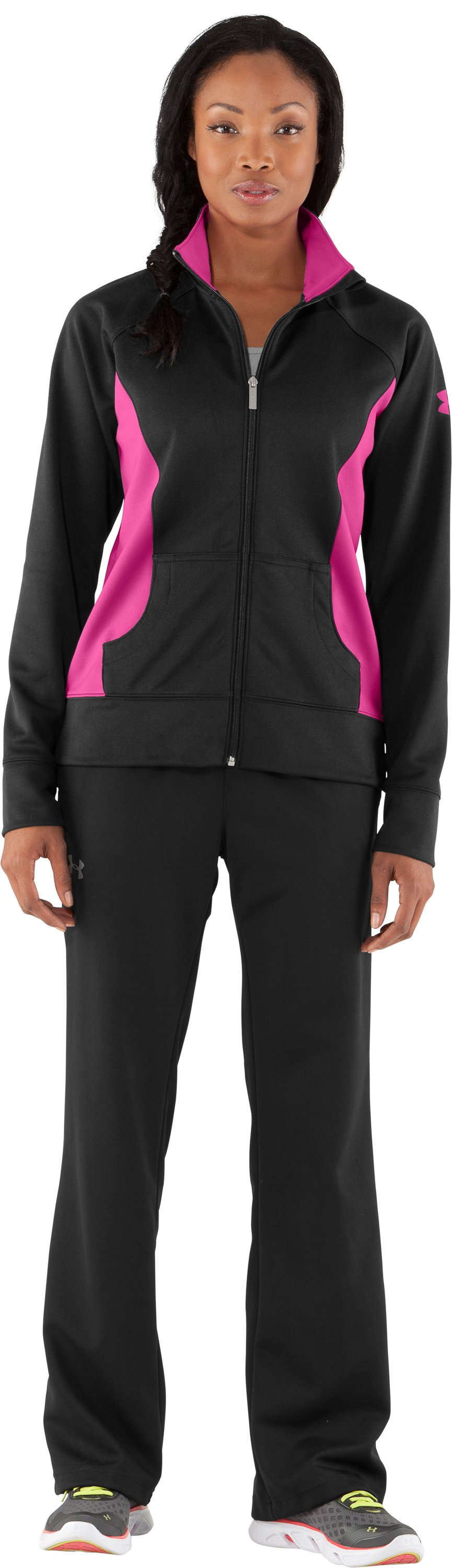 Women's UA Craze Jacket, Black , Front