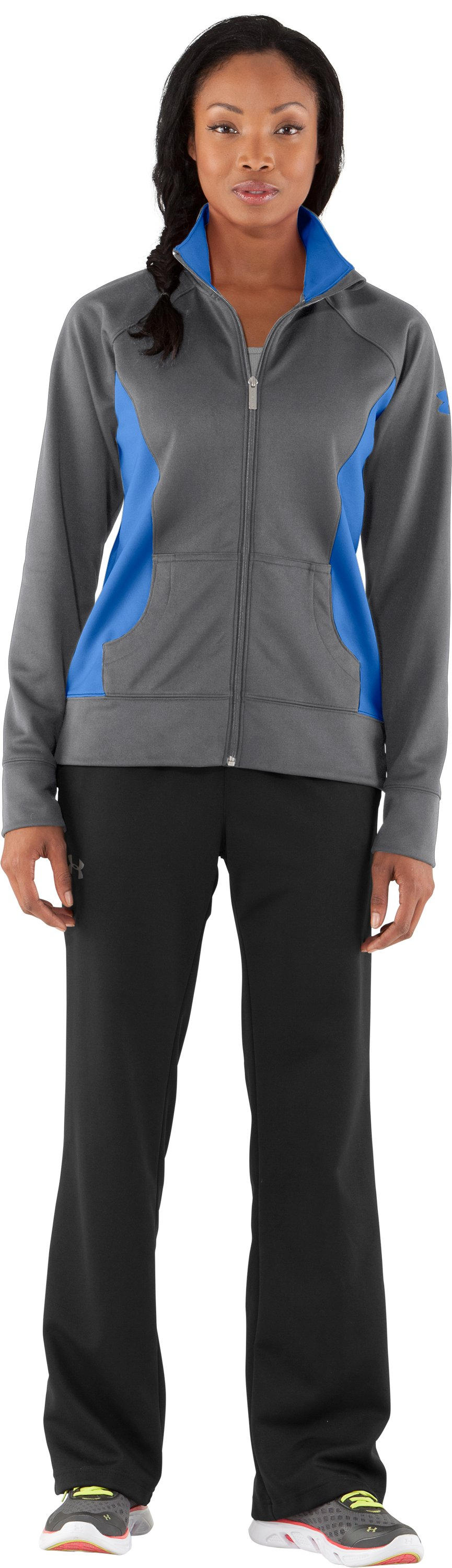 Women's UA Craze Jacket, Graphite, Front