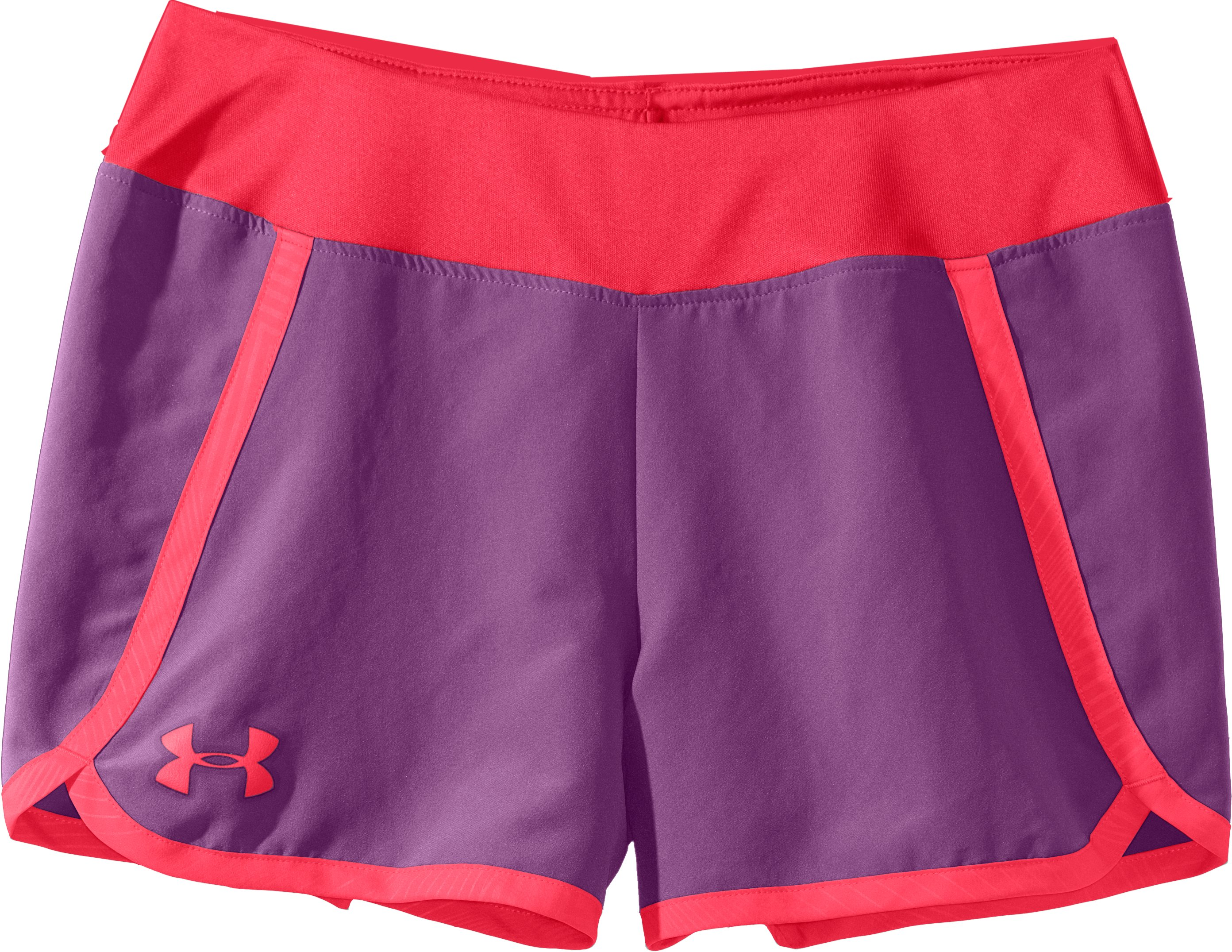 "Girls' UA Ripping 3"" Shorts, LAVISH, Laydown"