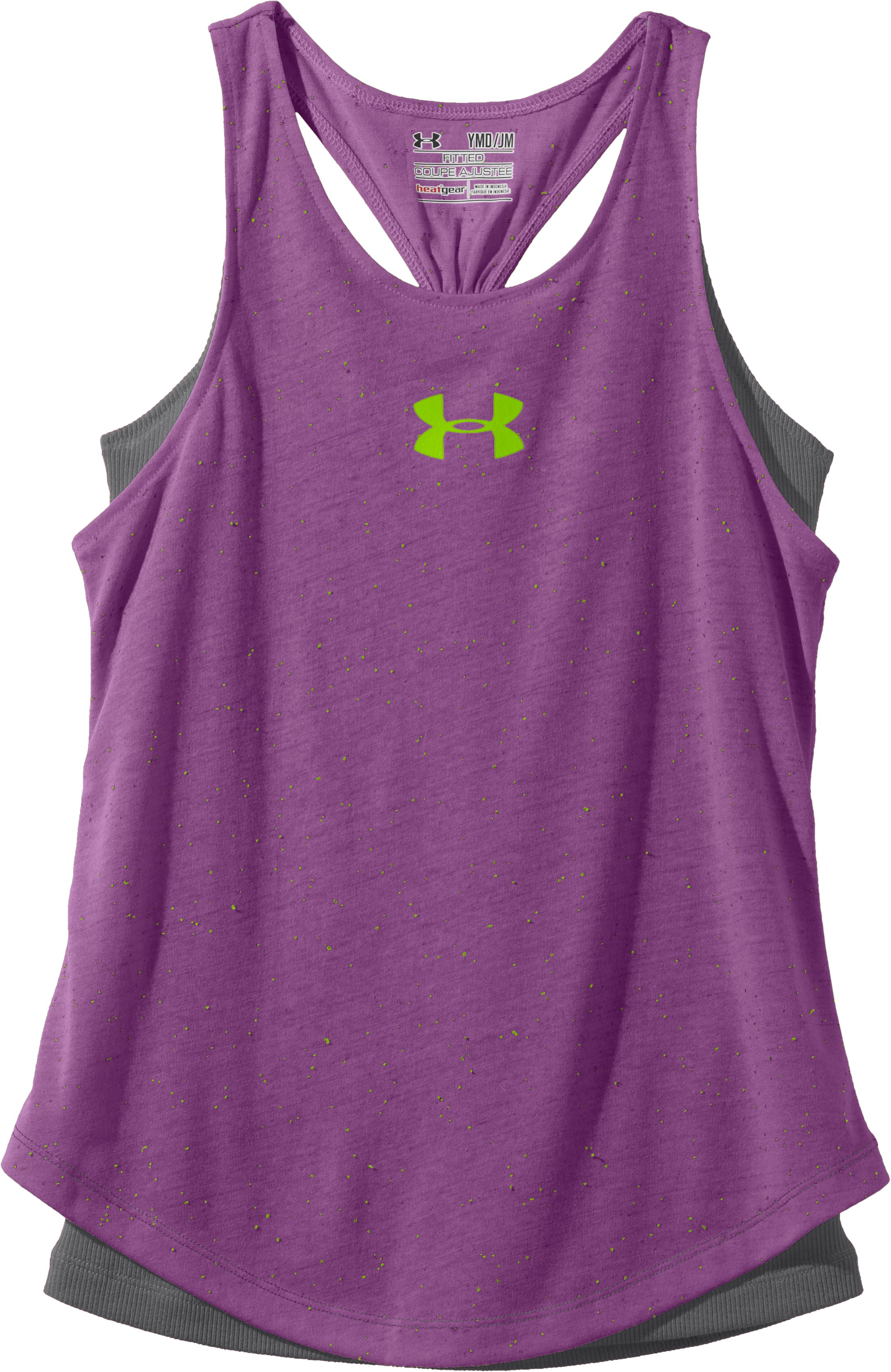 Girls' UA Razzle Tank, LAVISH, Laydown