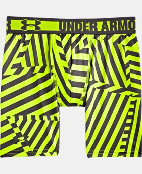 "Boys' HeatGear® Sonic 4"" Fitted Shorts"