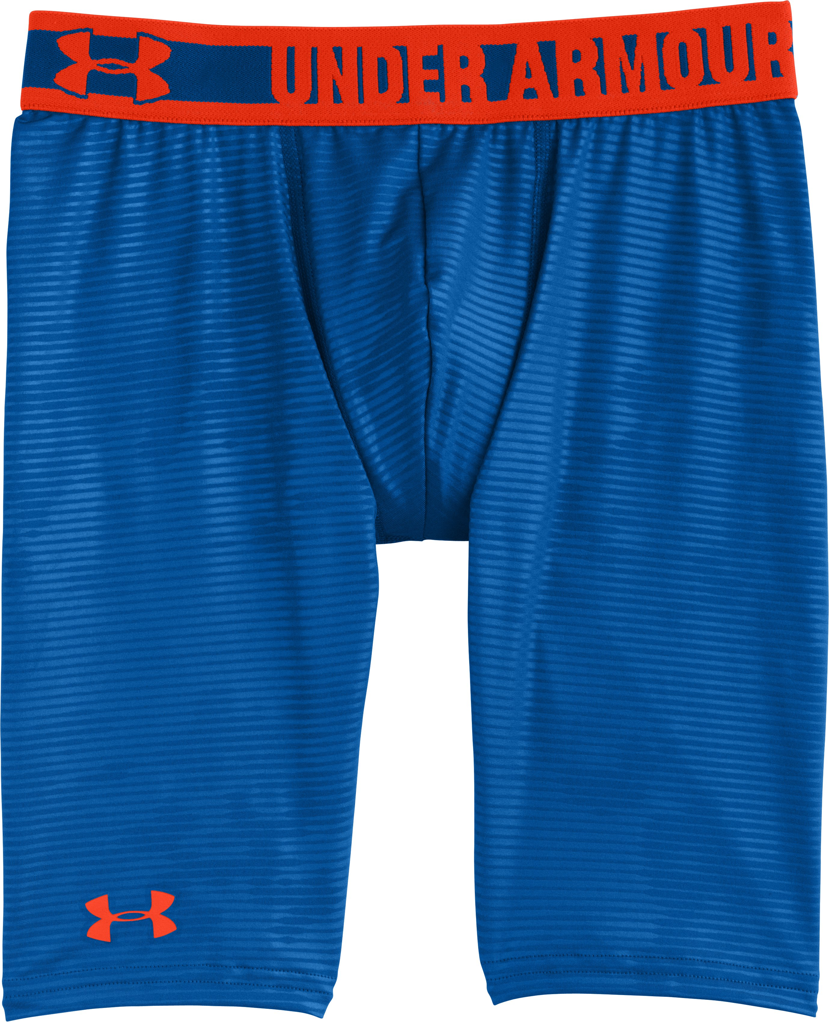 "Boys' HeatGear® Sonic 7"" Fitted Shorts, SCATTER, Laydown"