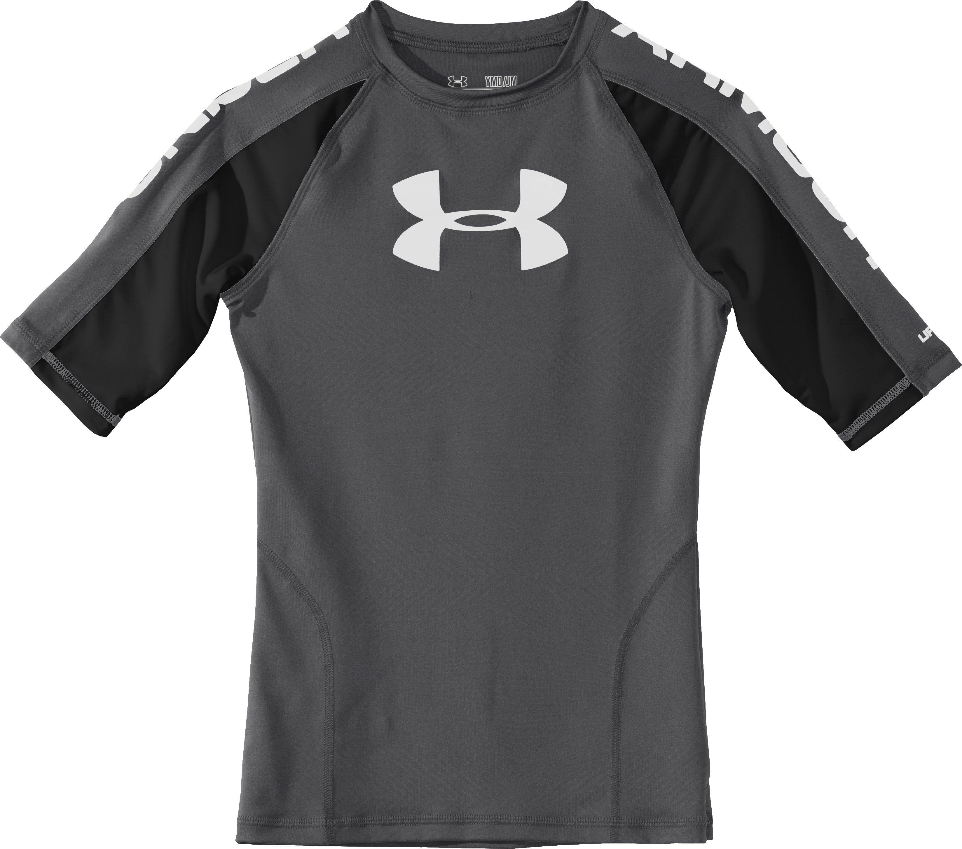 Boys' UA Ripping Water-Activated Short Sleeve, Graphite, Laydown