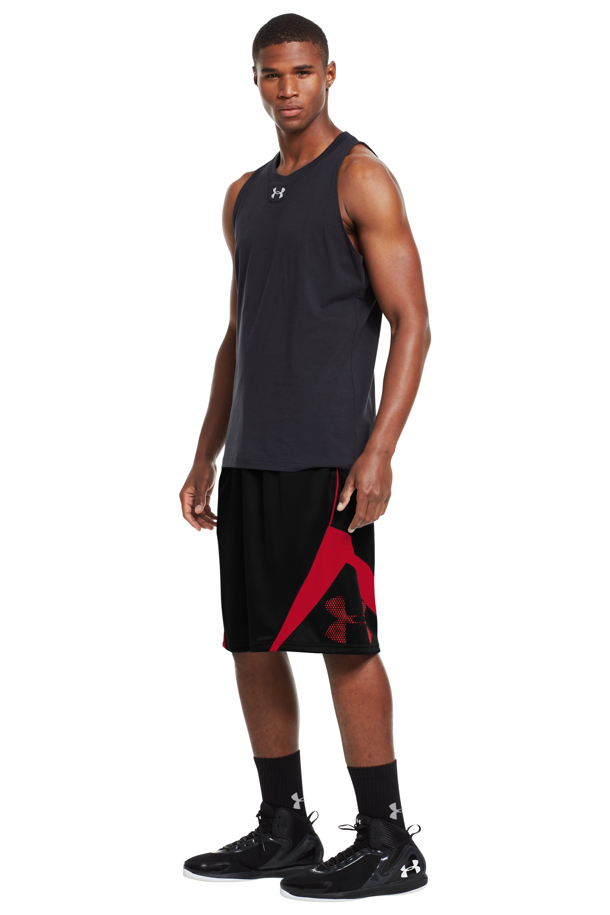 Men's UA EZ Mon-Knee Basketball Shorts, Black , zoomed image