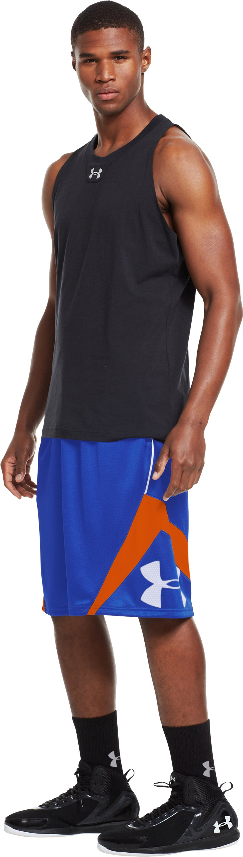 Men's UA EZ Mon-Knee Basketball Shorts, Royal, undefined