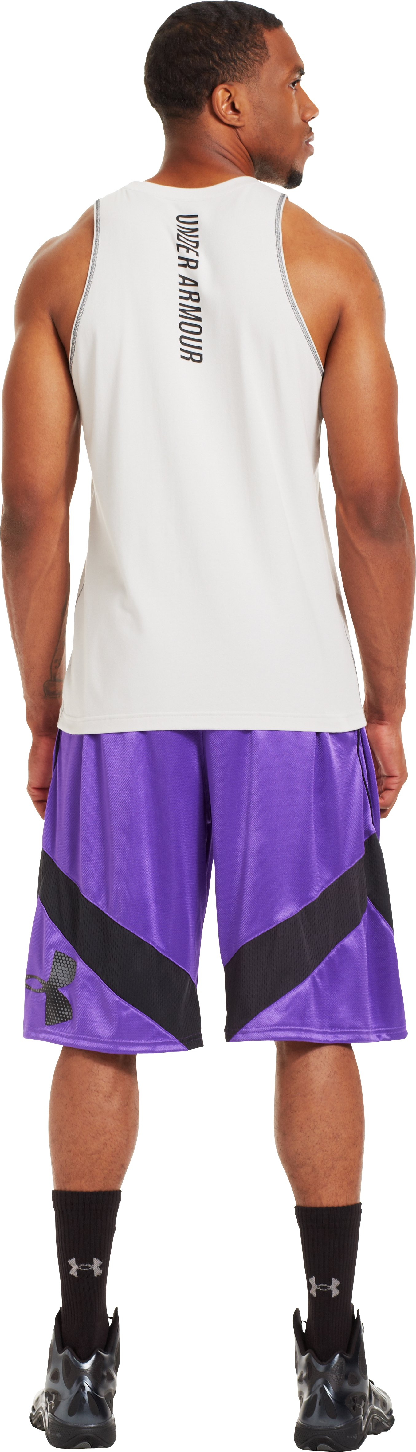 Men's UA EZ Mon-Knee Basketball Shorts, PRIDE, Back