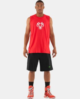 Men's UA L.A.A.F. 2-in-1 Basketball Shorts