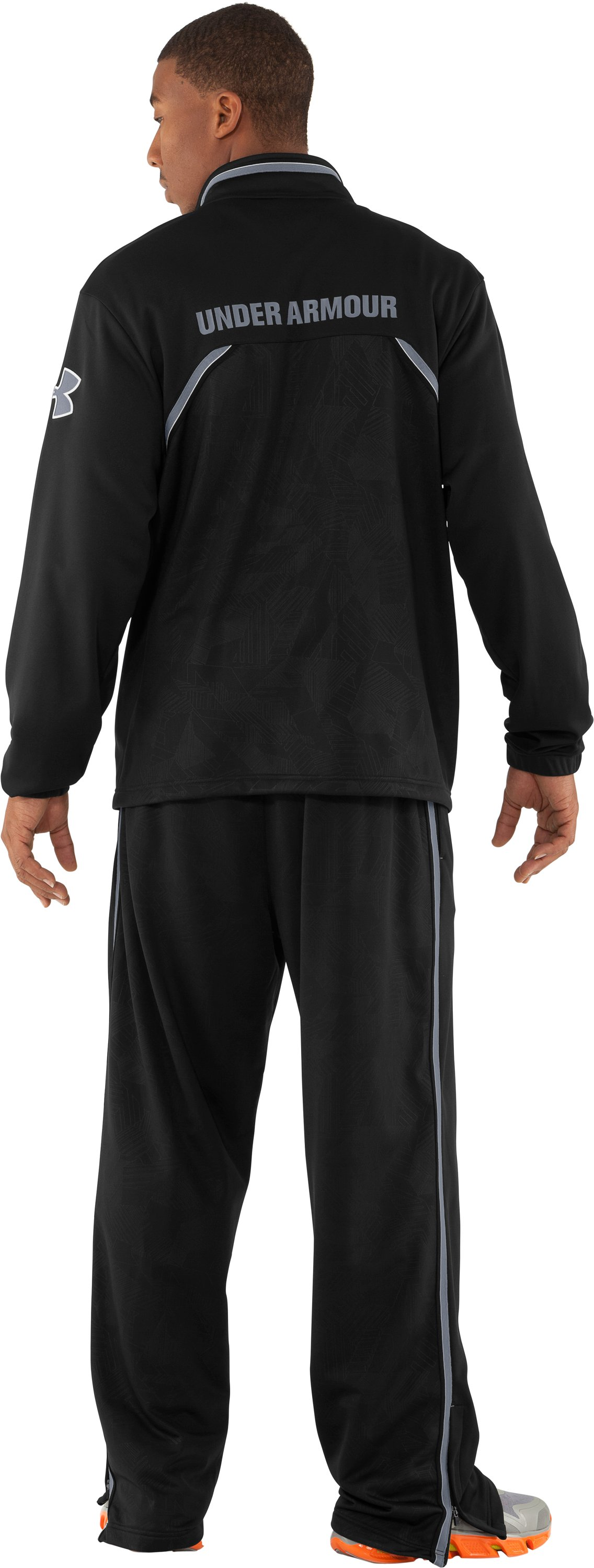 Men's UA Offseason Warm-Up Pants, Black , Back
